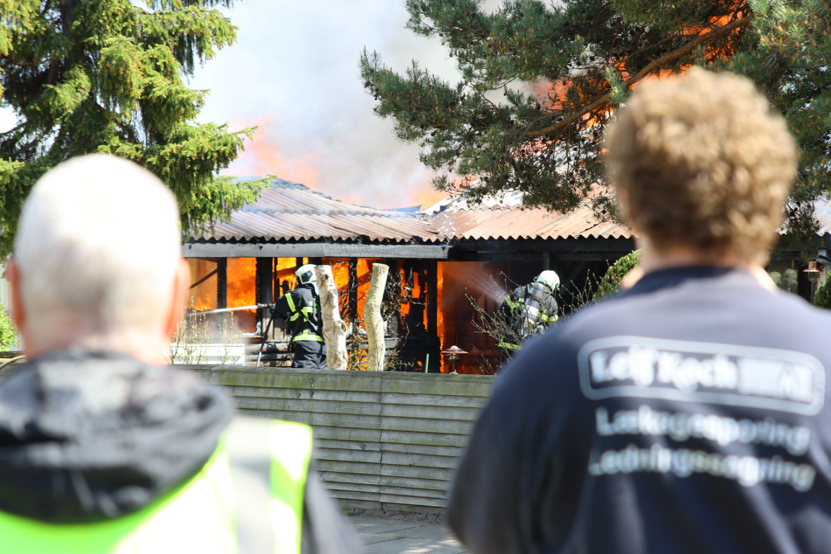 Kraftig brand i Tårnby - gade afspærret