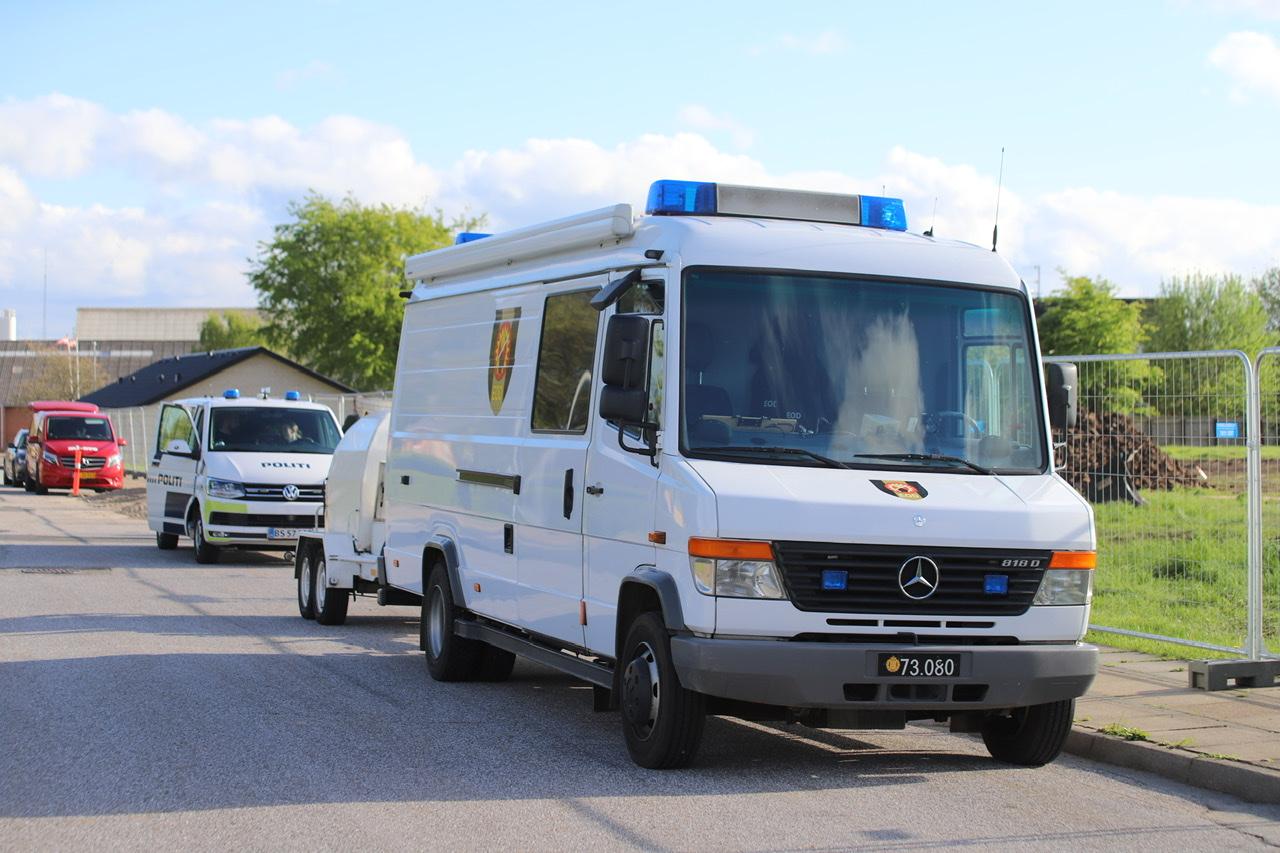 Tre bomber fundet i Brønderslev - bomberyddere til stede