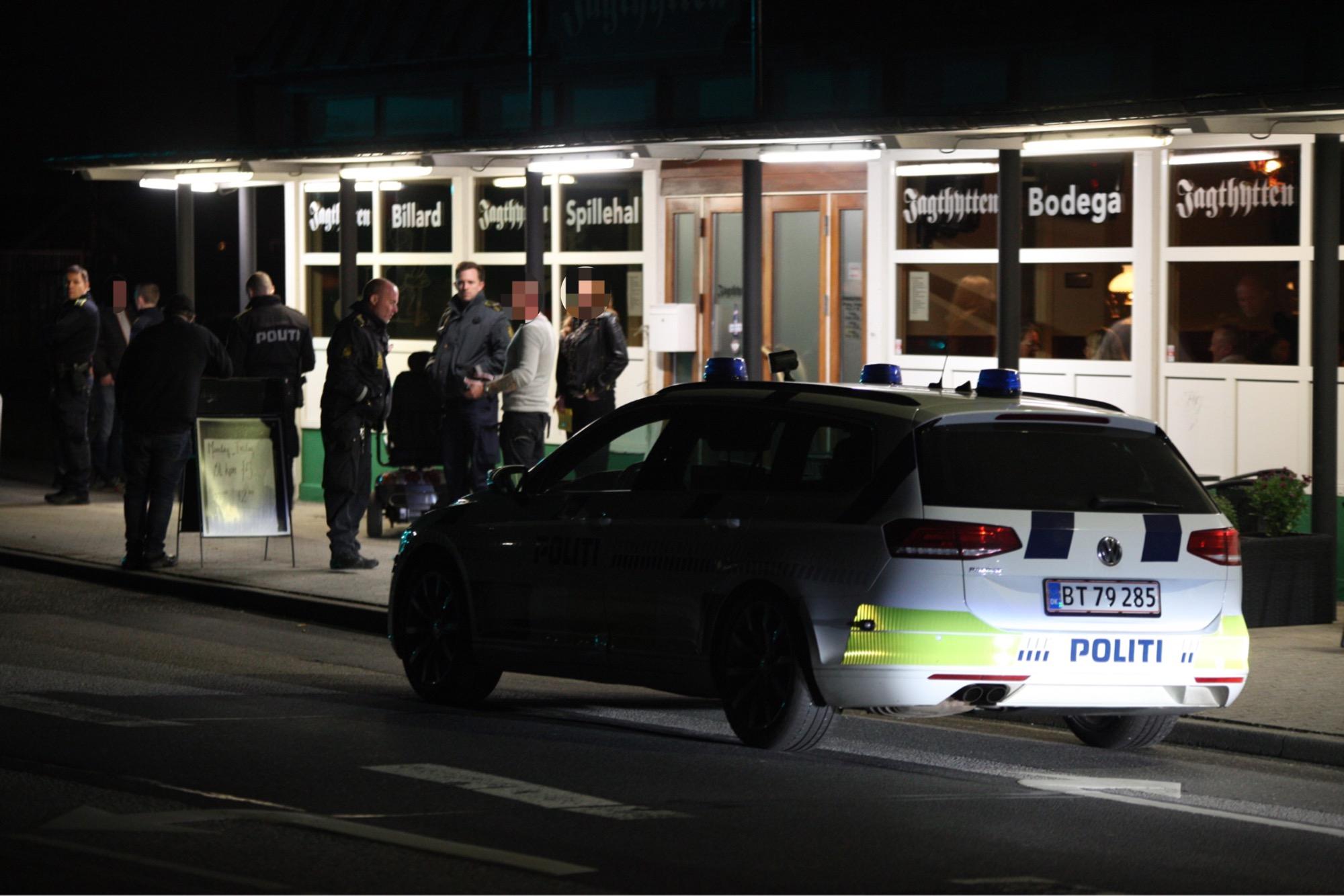 Politi til stede i Esbjerg