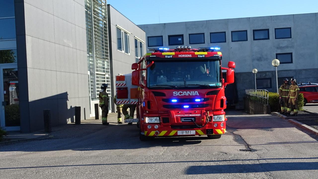 Melding om brand i Horsens