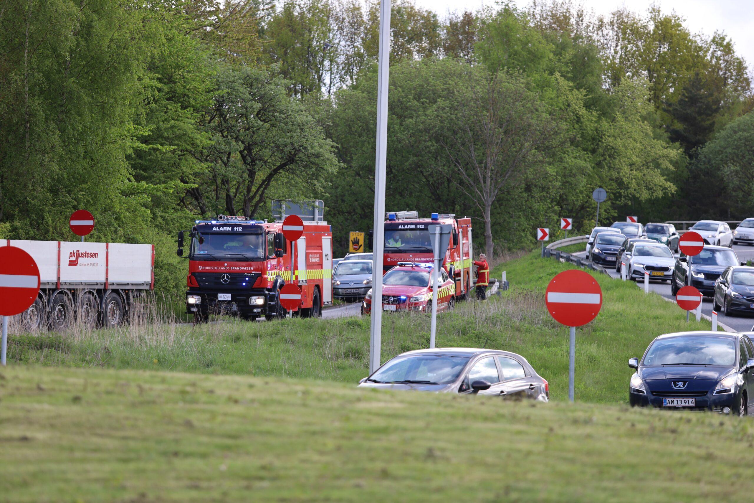 Færdselsuheld ved afkørslen Isterød fra Helsingør motorvejen