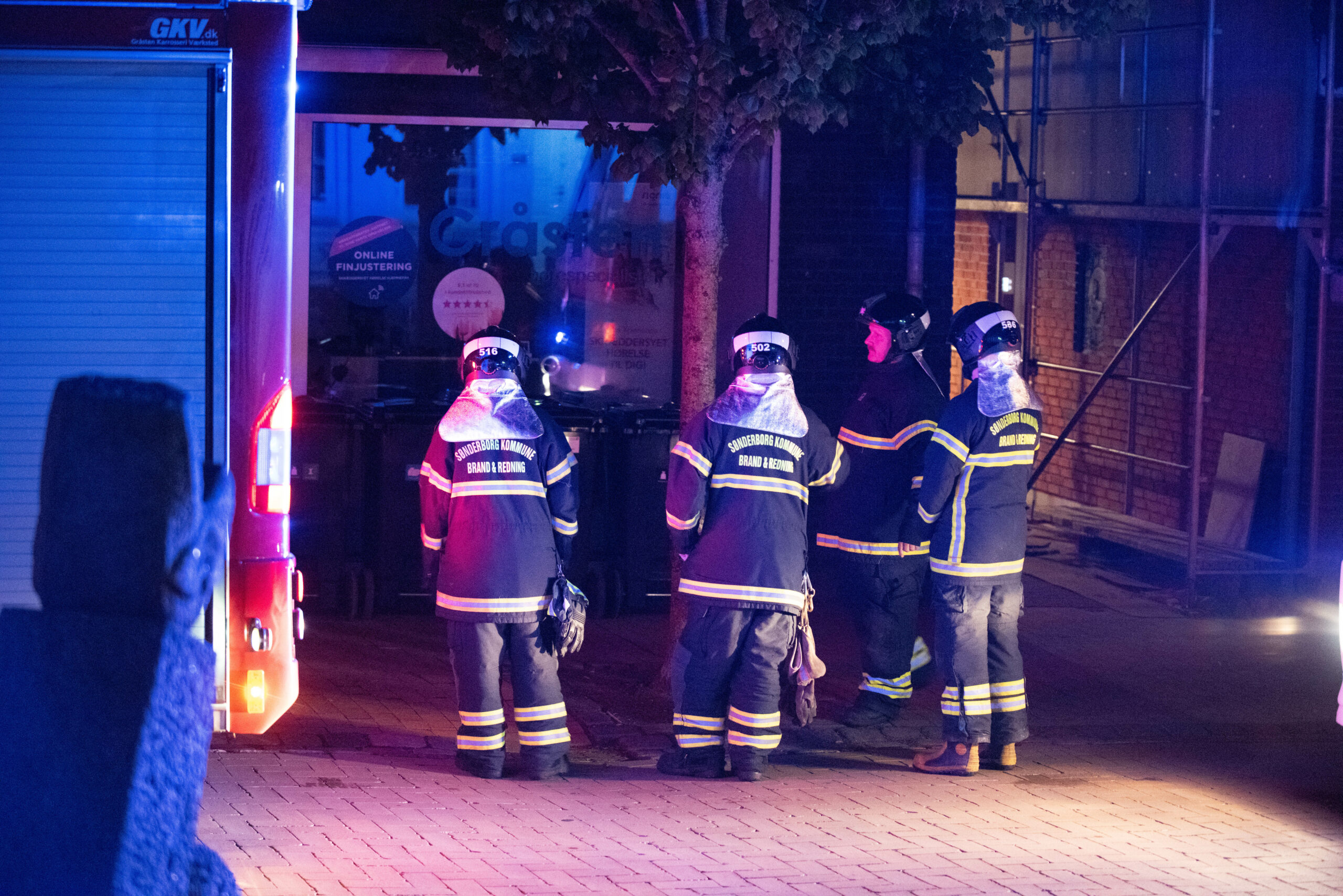 Bygnings brand - Torvet i Gråsten