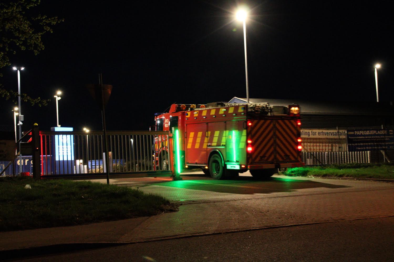 Kaldt ud til brand på genbrugsstation i Roskilde