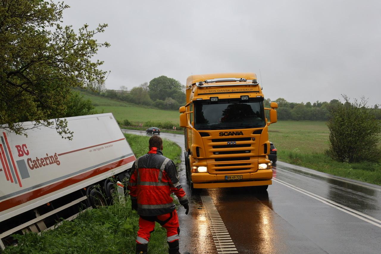 Lastbilulykke ved Kolding onsdag morgen