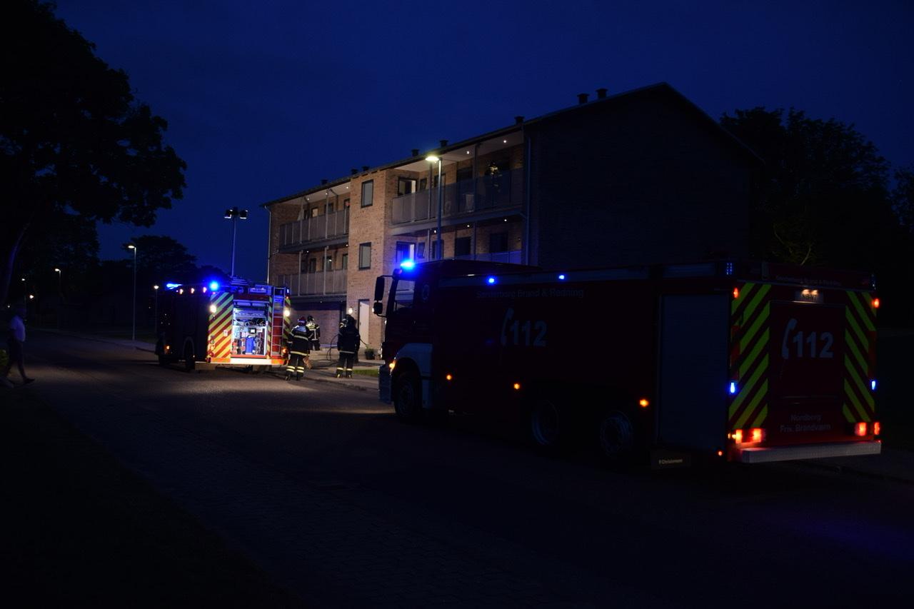 Bygningsbrand i Nordborg lørdag aften