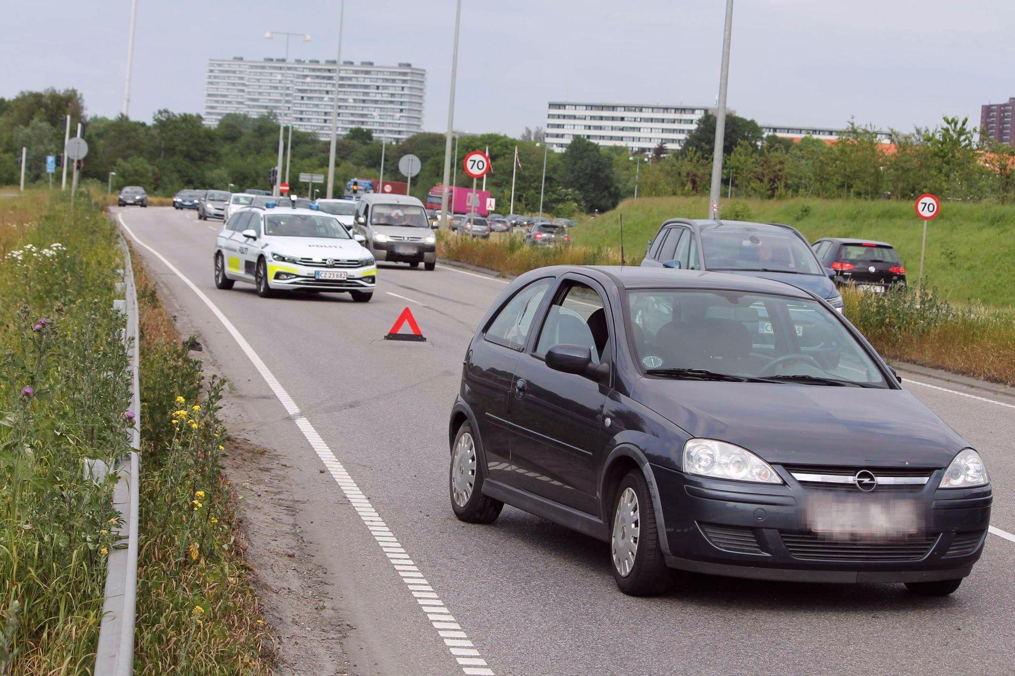 Trafikulykke på Østjyske Motorvej