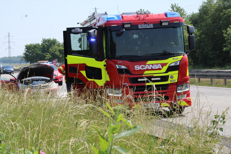 Bilbrand på Holbæk motorvejen