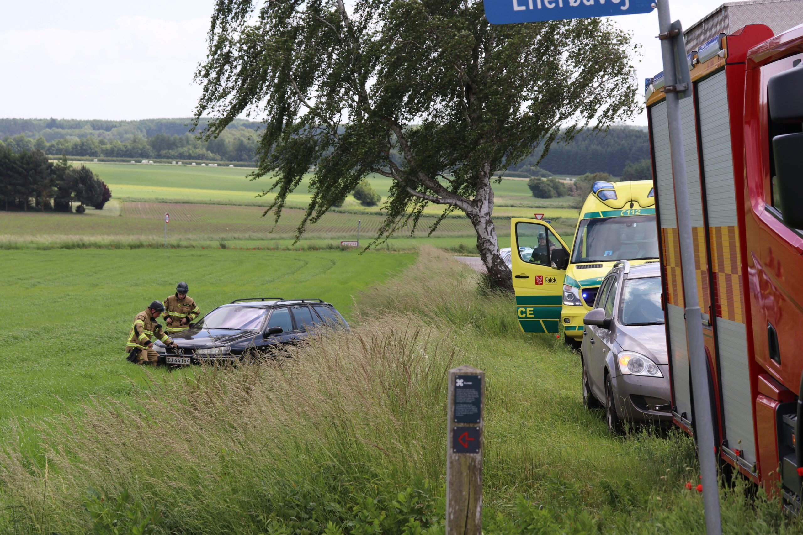 Biluheld i Ørslev ved Vordingborg