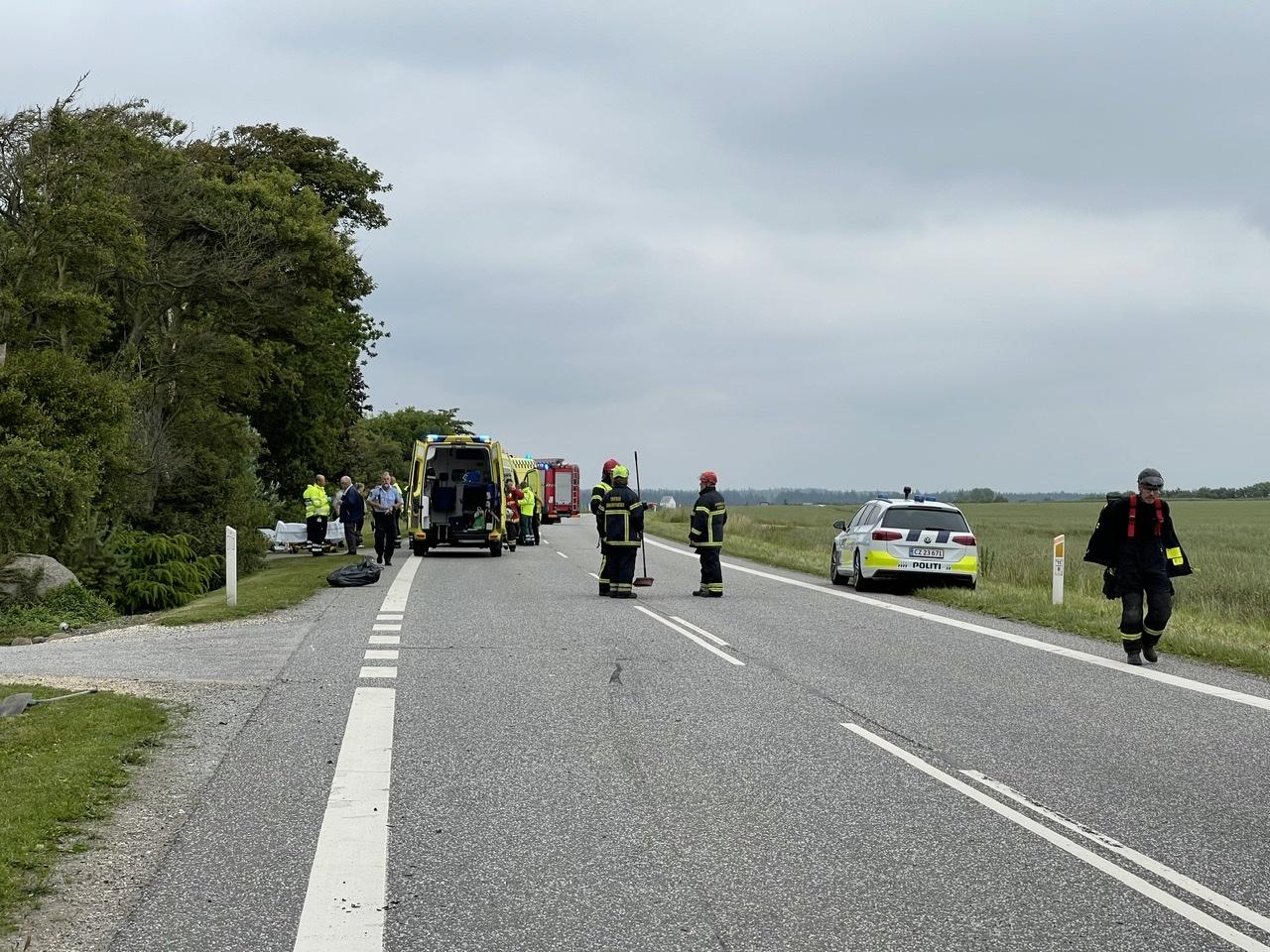 Ulykke spærrer vej i Thisted