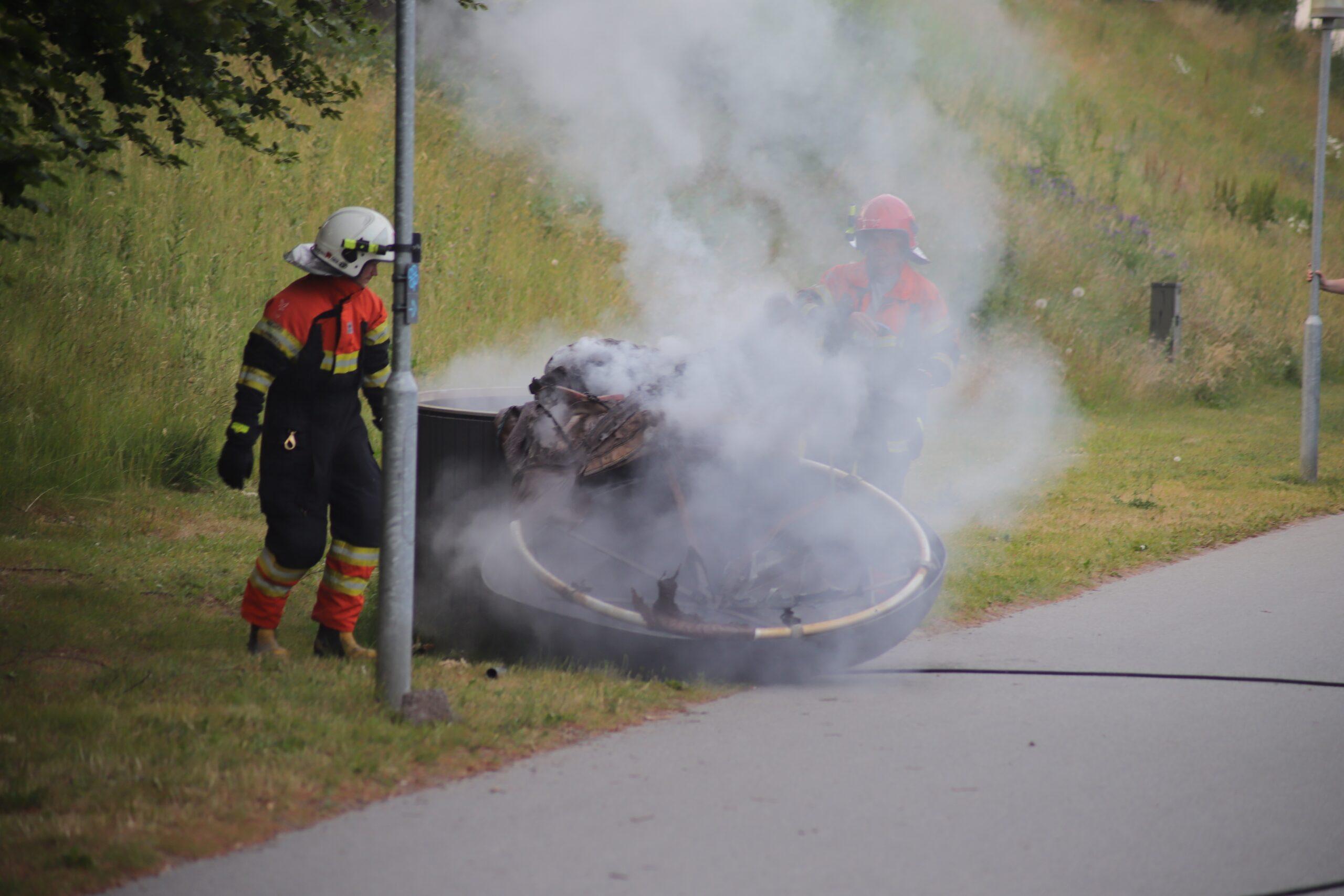 Brand i skraldespand - Hjørring