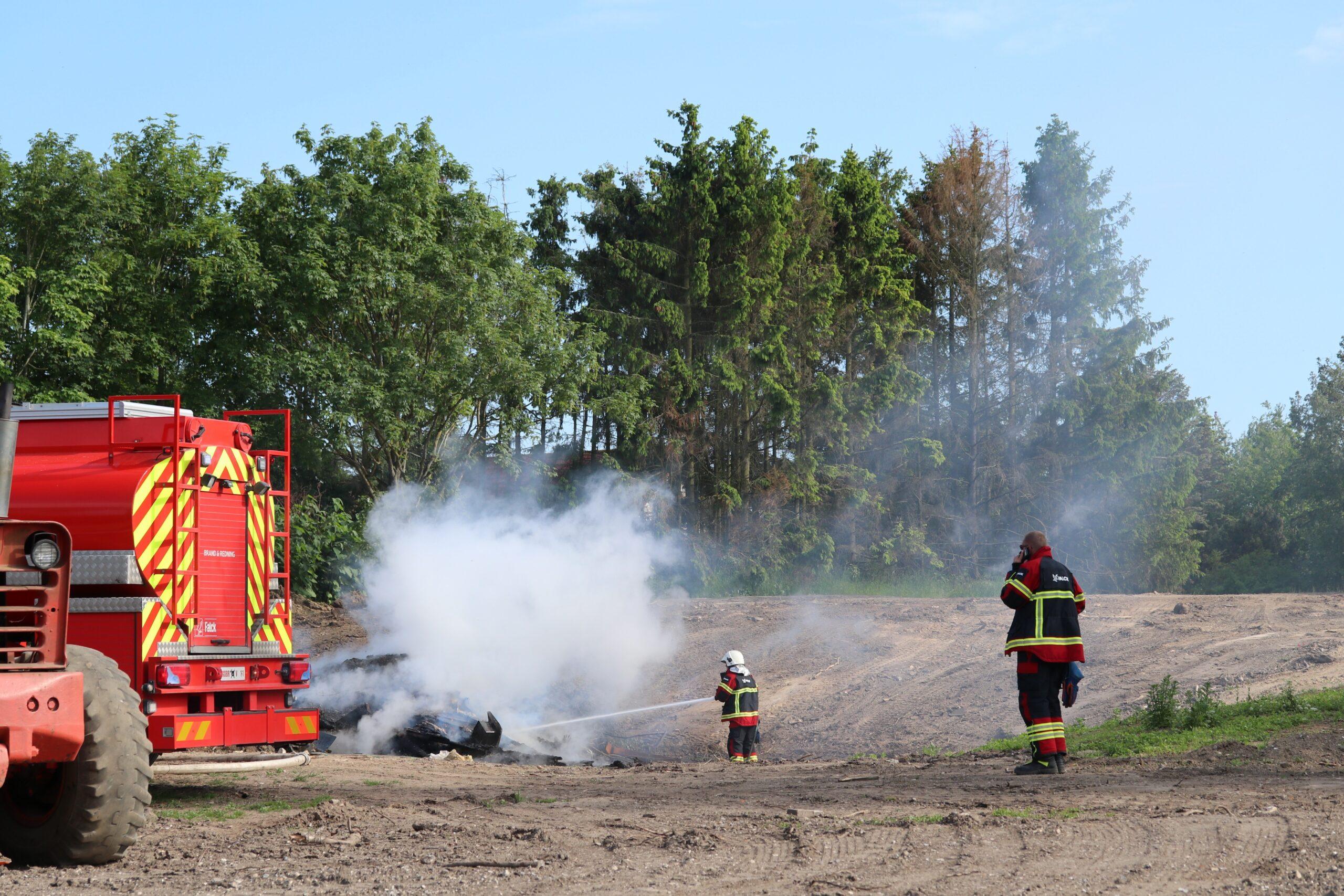 Mindre markbrand i Vordingborg