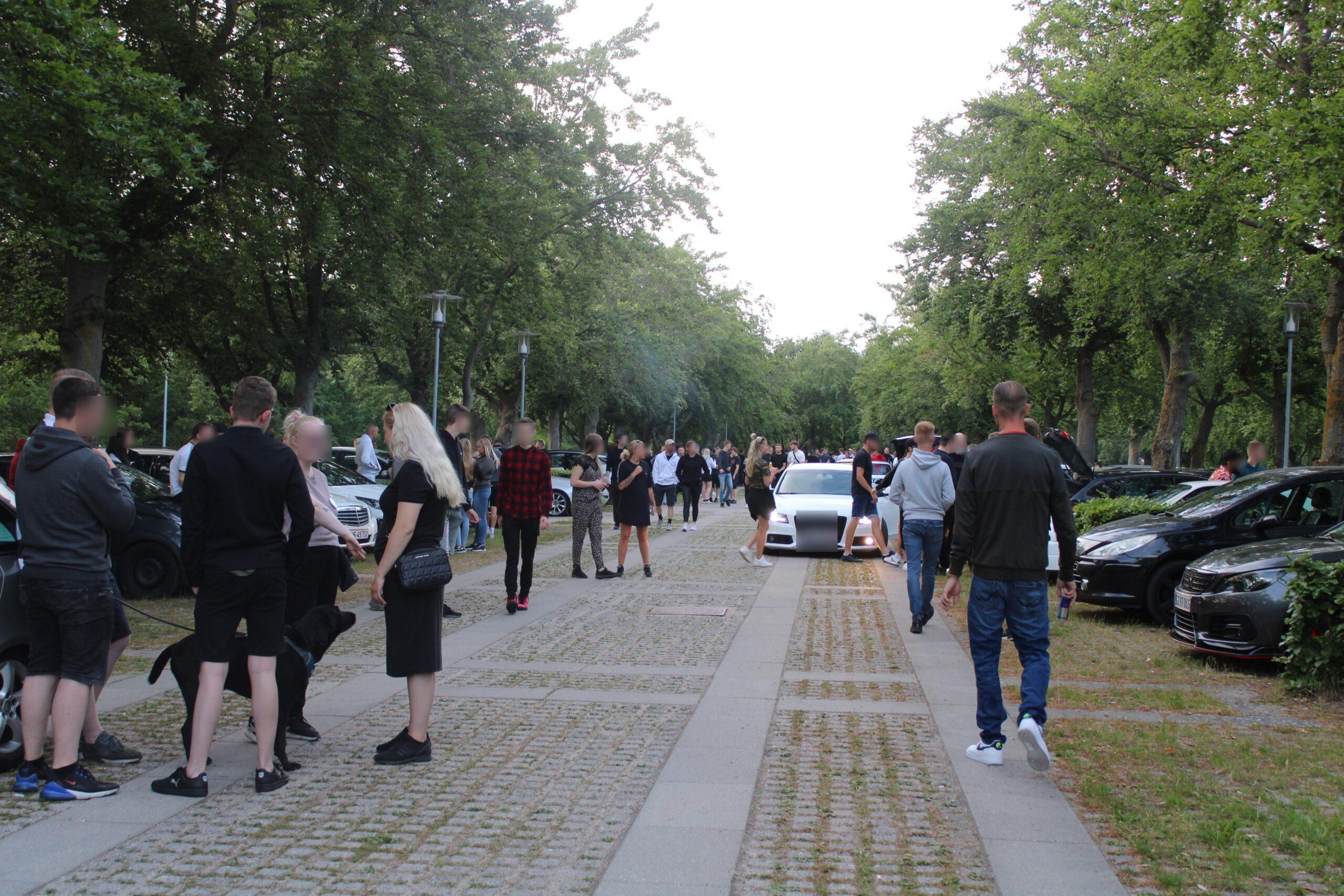 Større biltræf i Lyngby