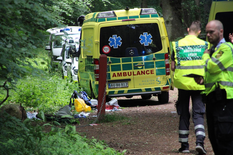 Voldsom ulykke i Roskilde - En person har modtaget hjertemassage
