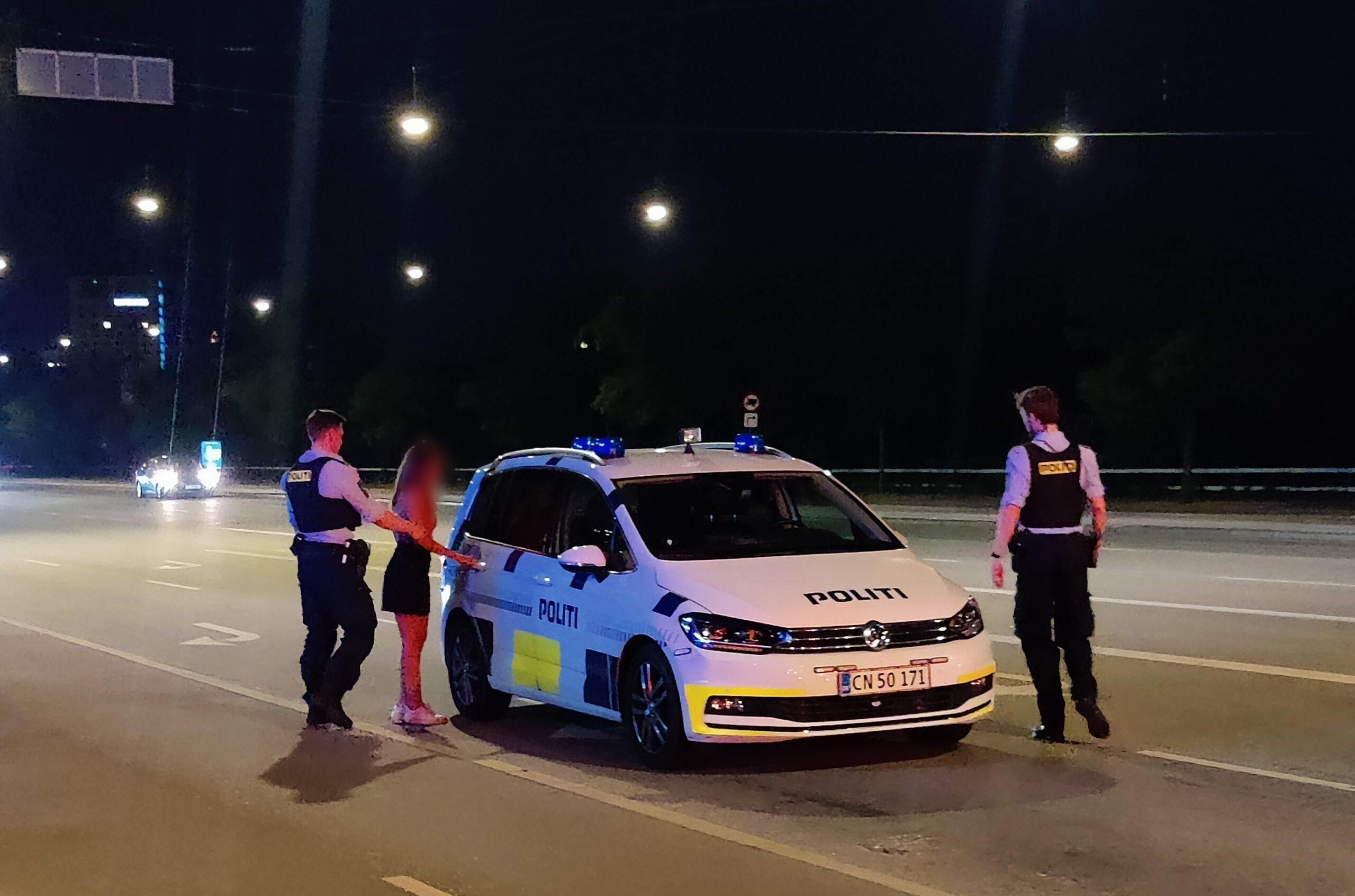 Hastigheds og alkohol kontrol - en anholdt
