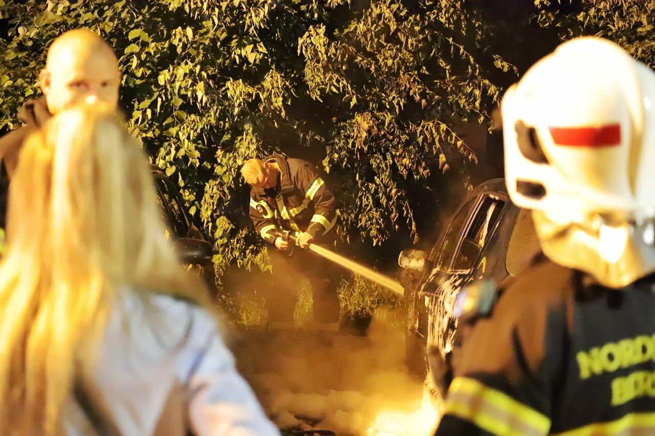 Bilbrand i Aalborg natten til søndag