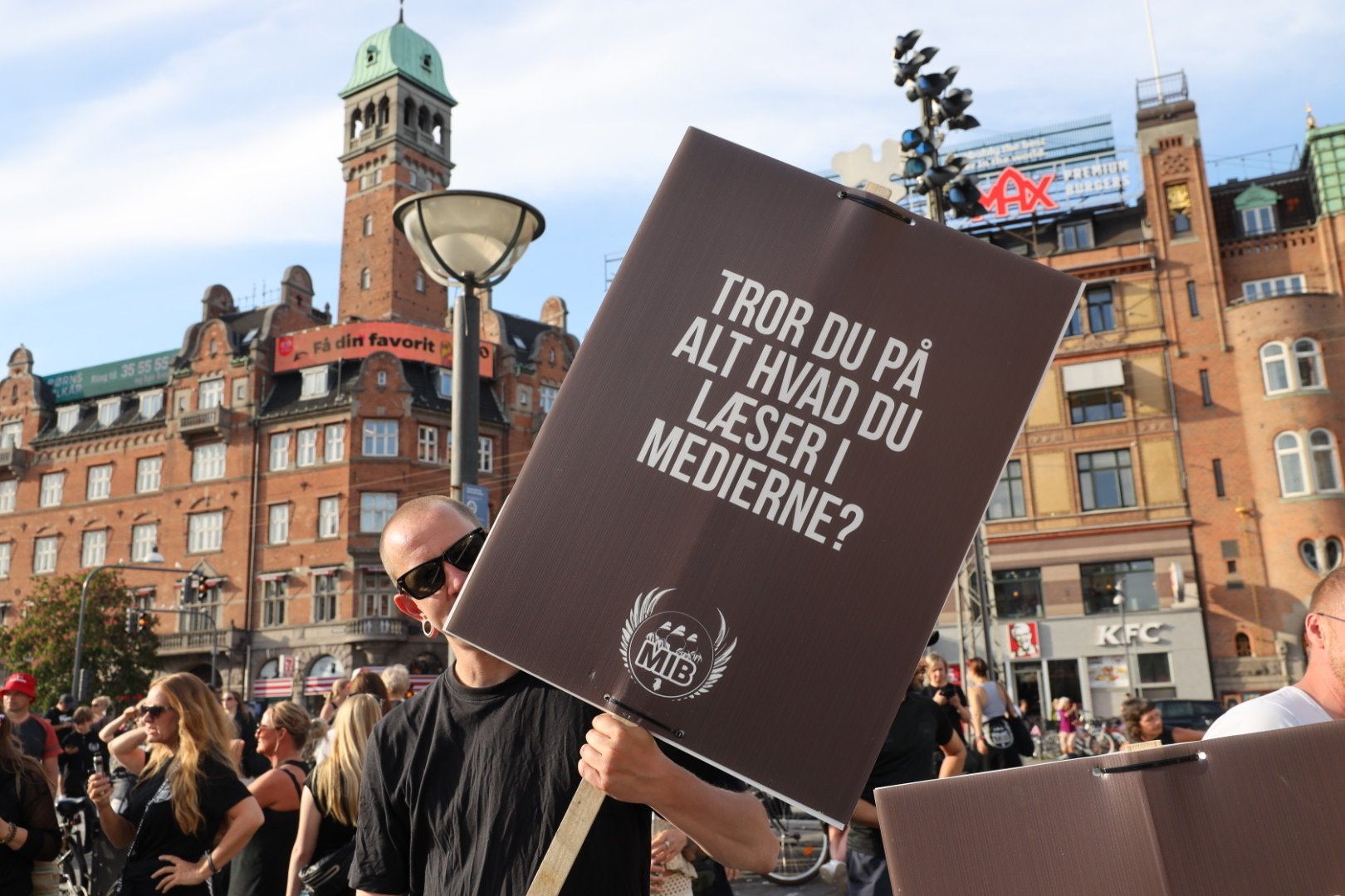 Men in Black demonstration i København