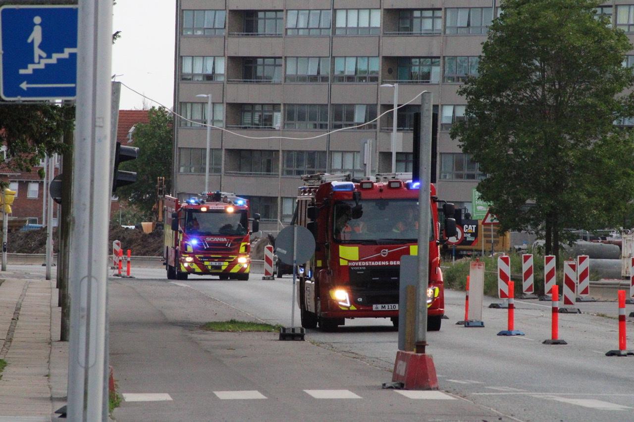 Uheld i Glostrup mandag eftermidag