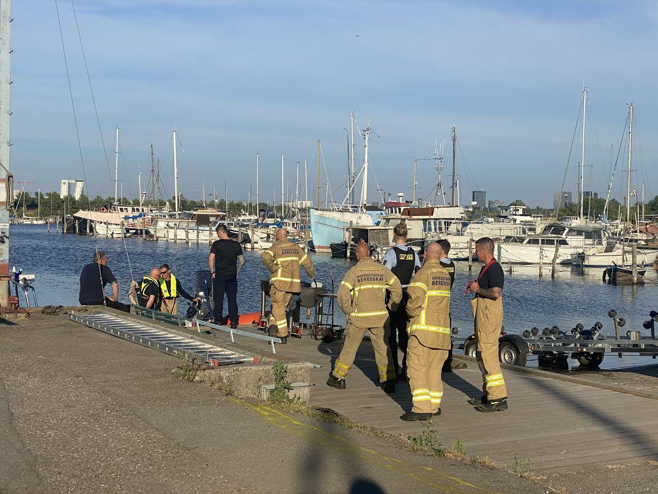 Person reddet i land i Sydhavnen og anholdt