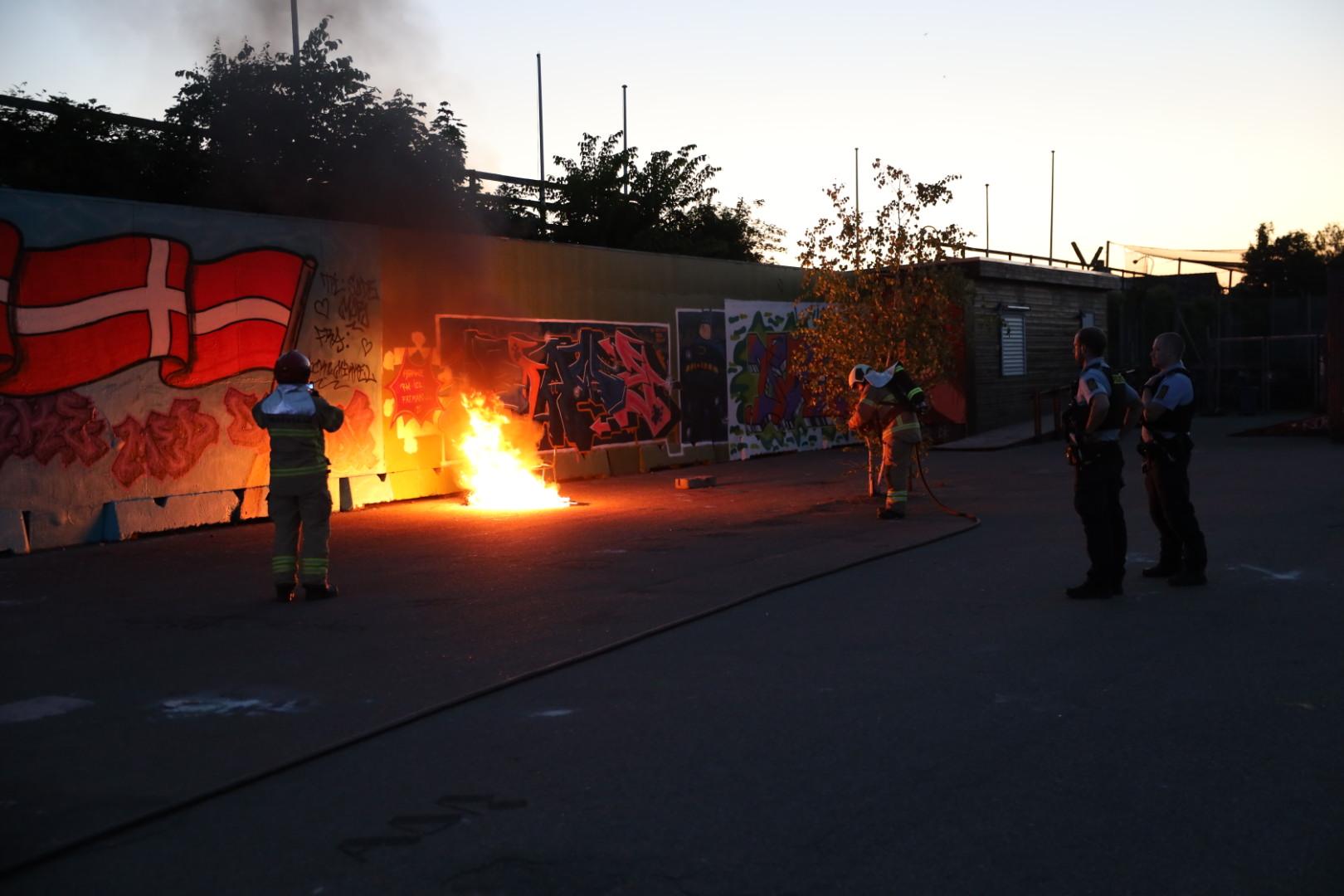 Ild i container i Vanløse