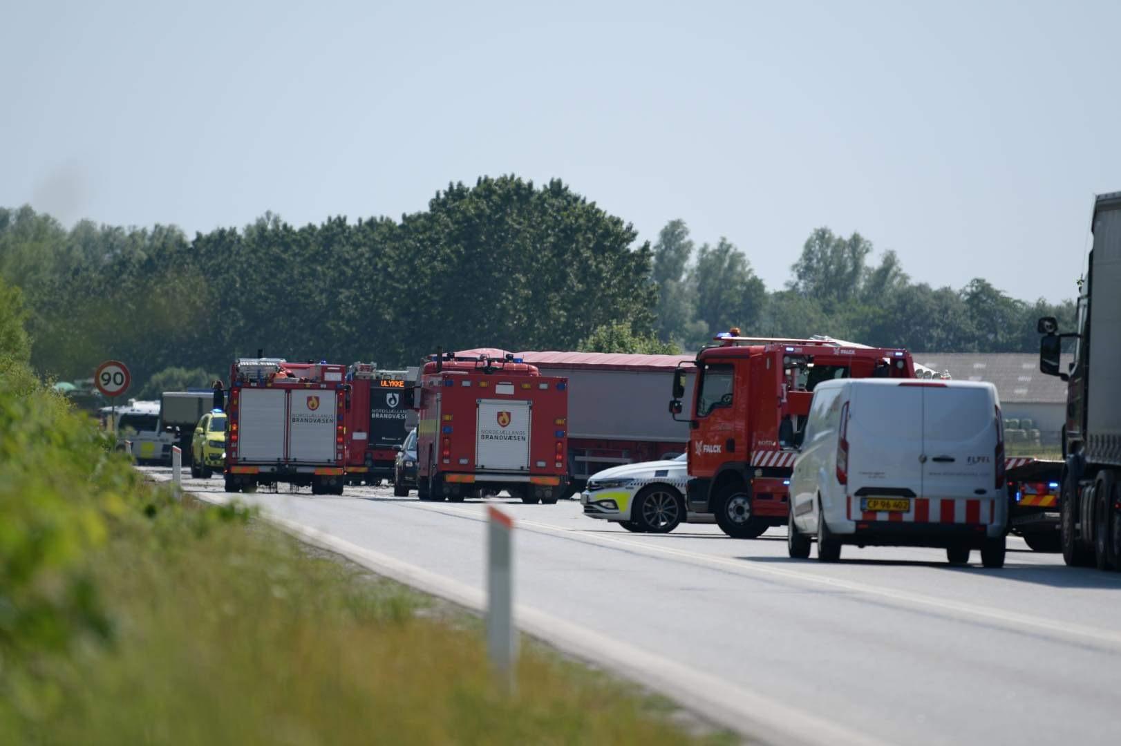 Alvorlig lastbilulykke på Hillerødmotorvejen