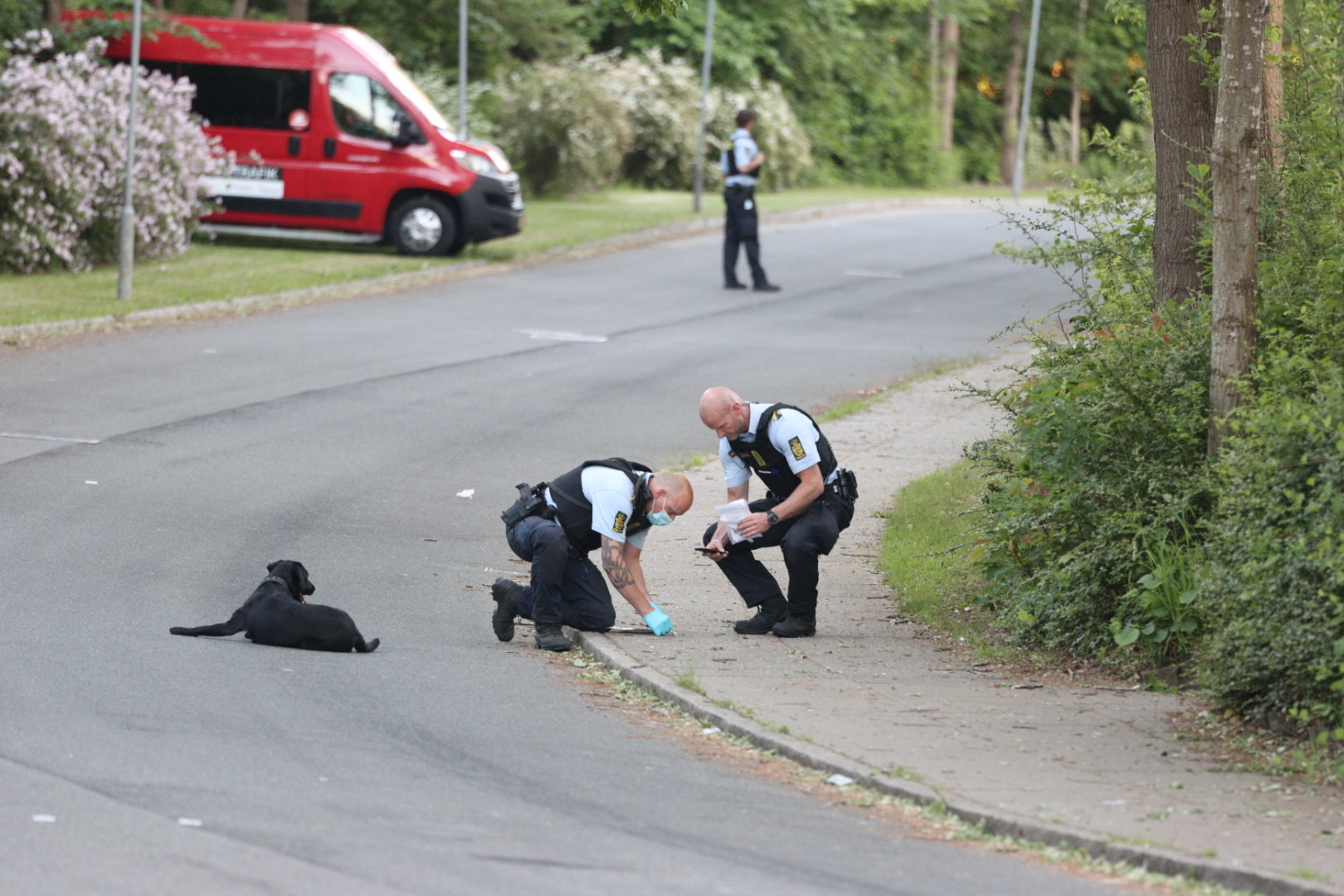 Større politiaktion i Vejlby-Risskov