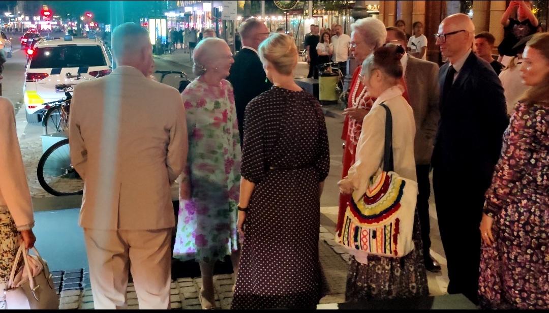 Royalt besøg i Tivoli lørdag aften