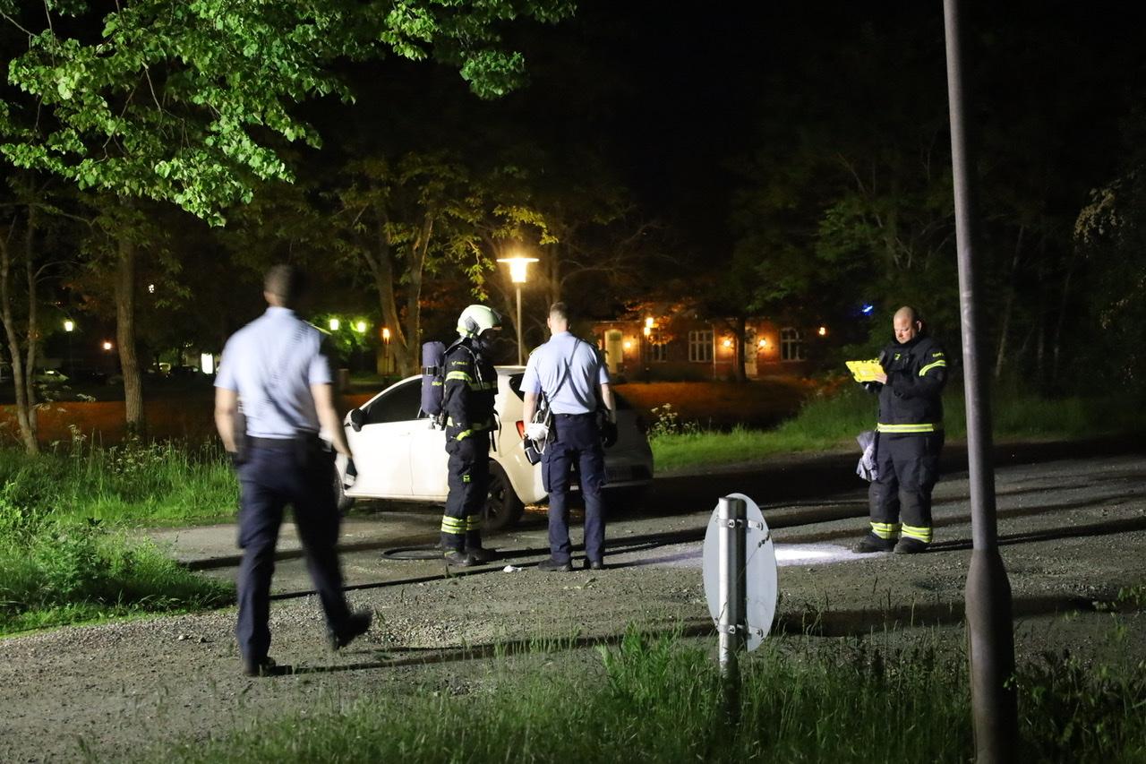 Bilbrand i Kolding natten til lørdag