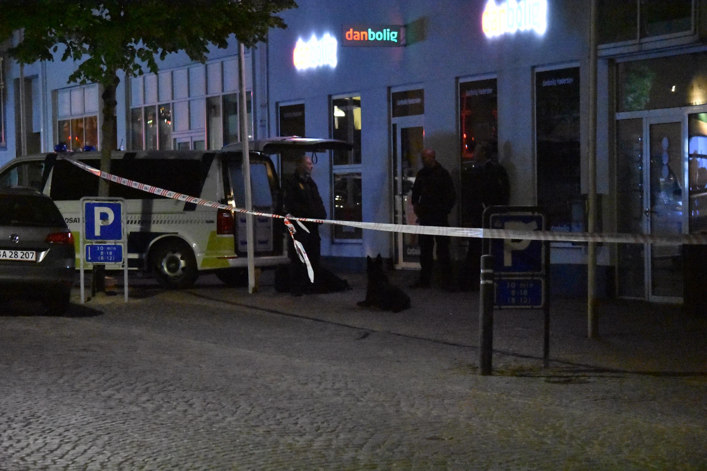 Stor politiaktion i Haderslev - område afspærret