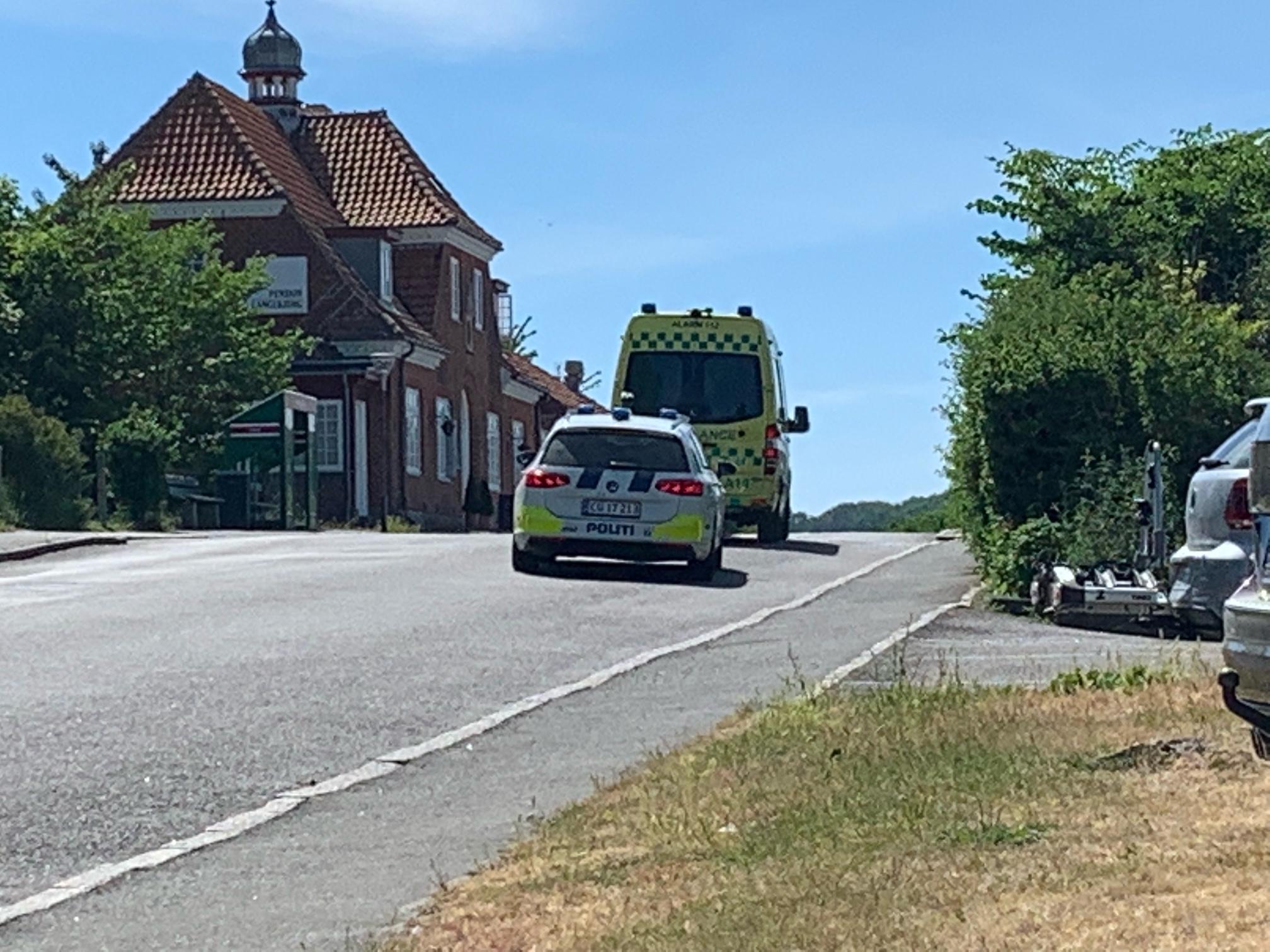 Ulykke i Allinge på Bornholm
