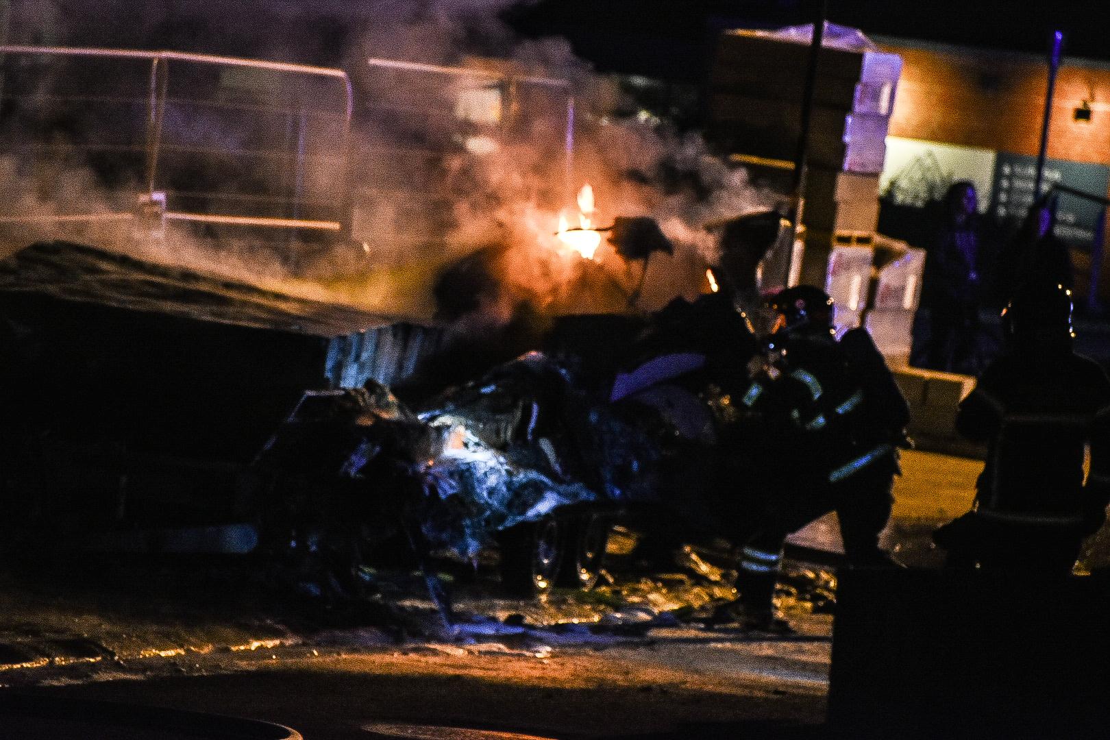 Naturbrand i Aalborg - skurvogn udbrændte