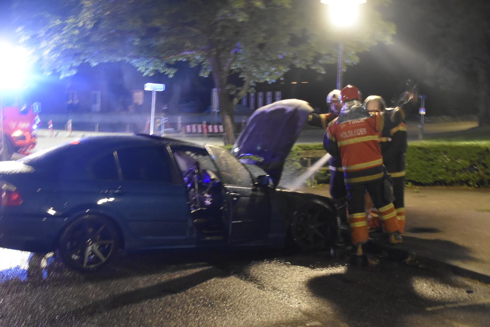 Ild i bil i Ørnhøj