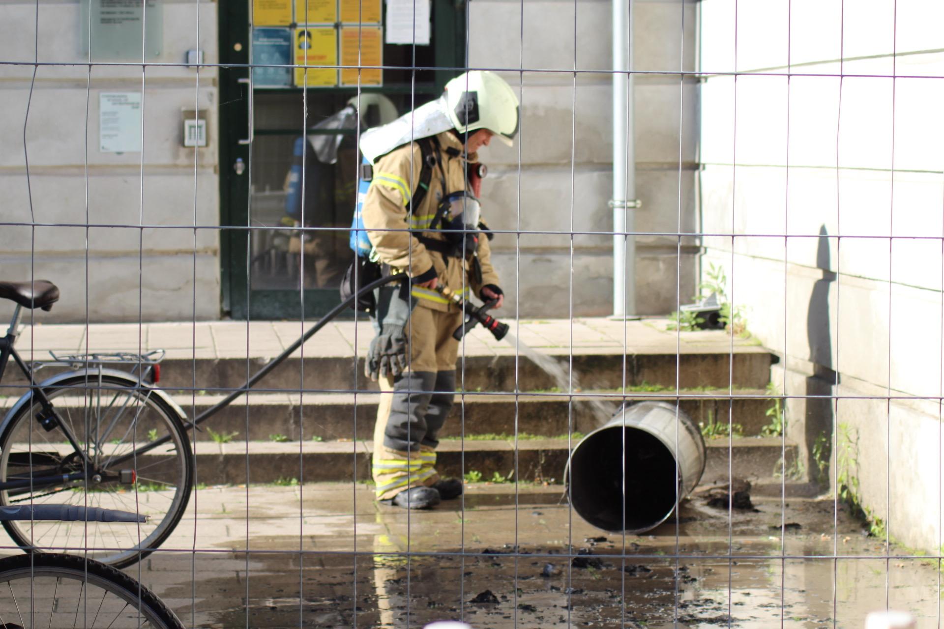 Brand i skraldespand i København