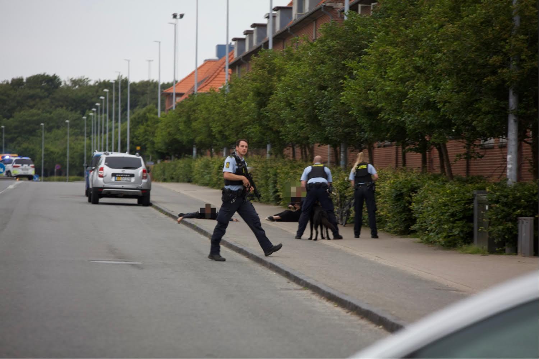 Større politiaktion i Esbjerg - to personer anholdt