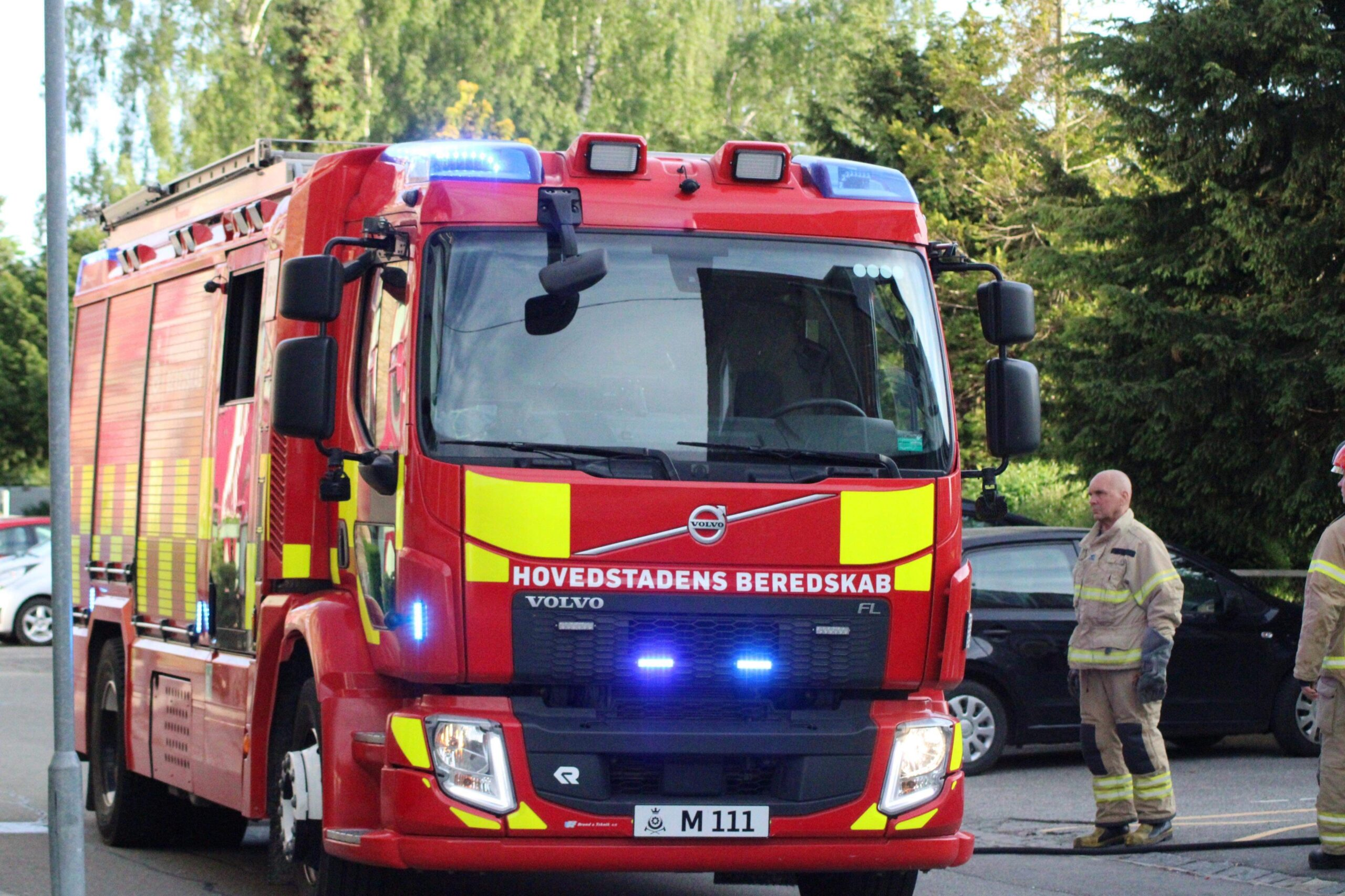 Containerbrand i Glostrup