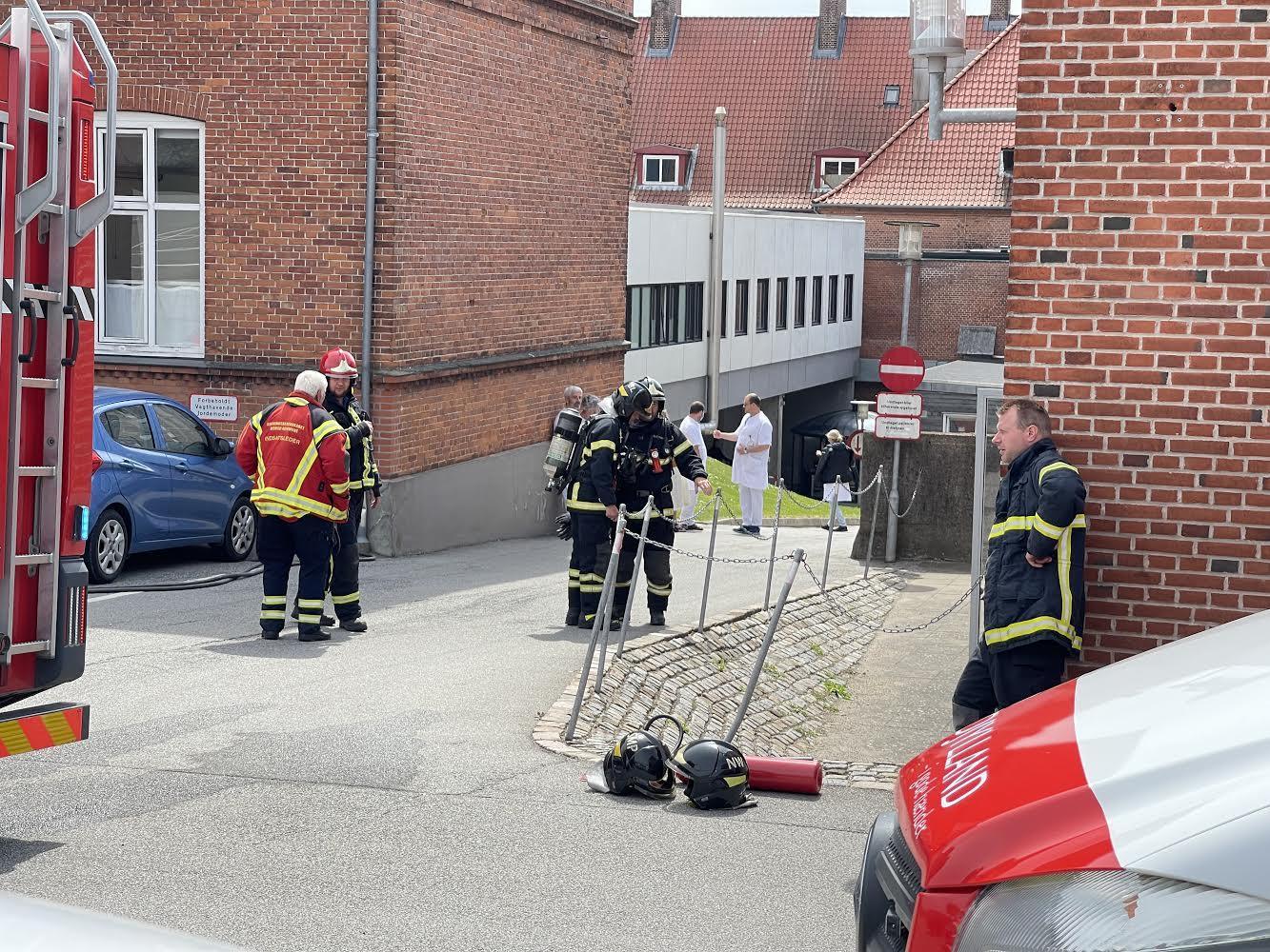 Brand på Thisted sygehus