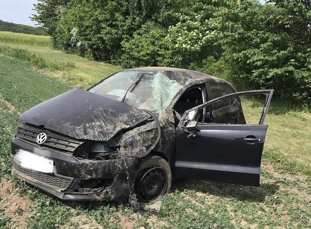 Voldsom soloulykke ved Hasle på Bornholm