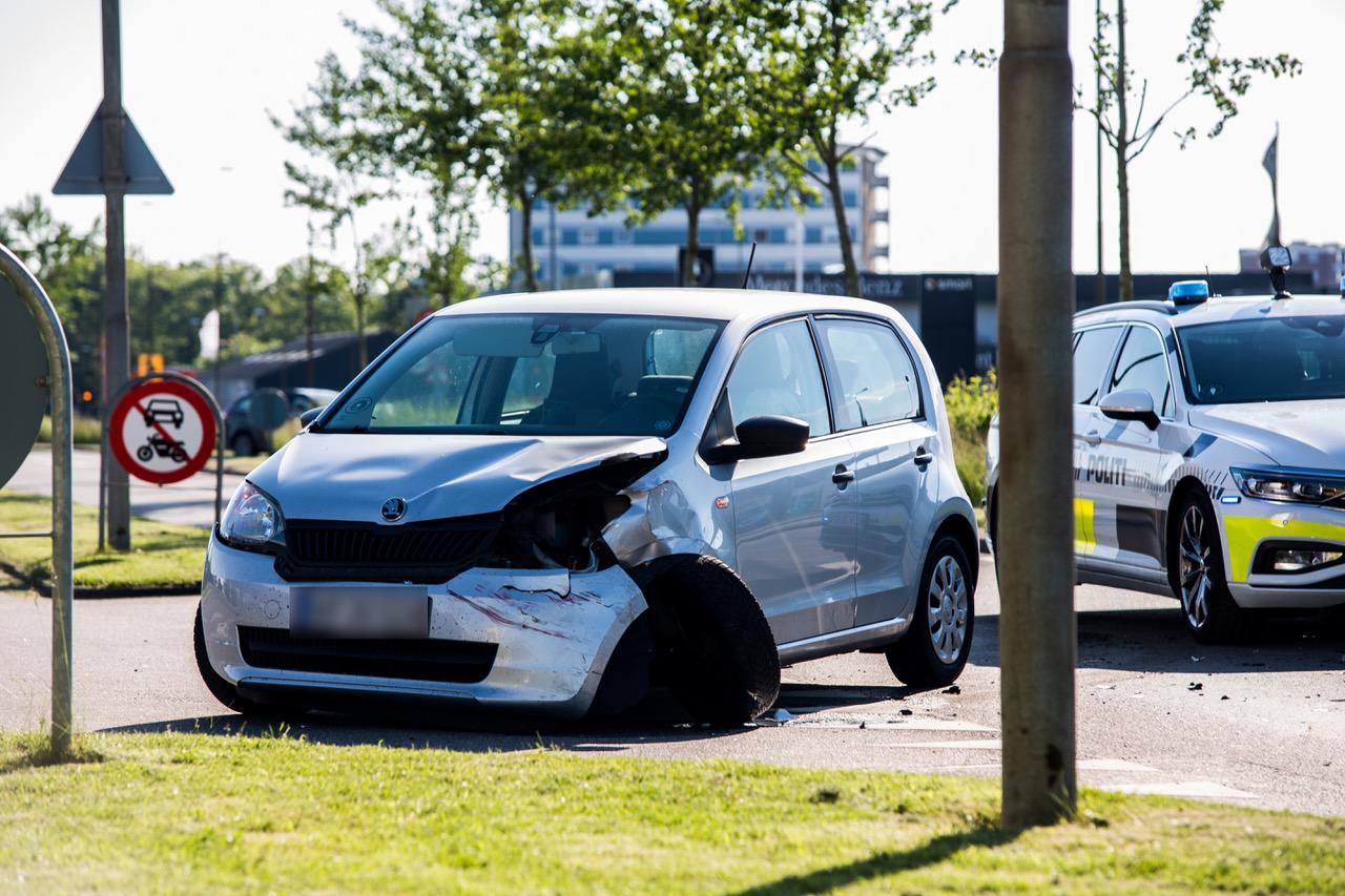 Mindre færdselsuheld i Esbjerg mandag aften
