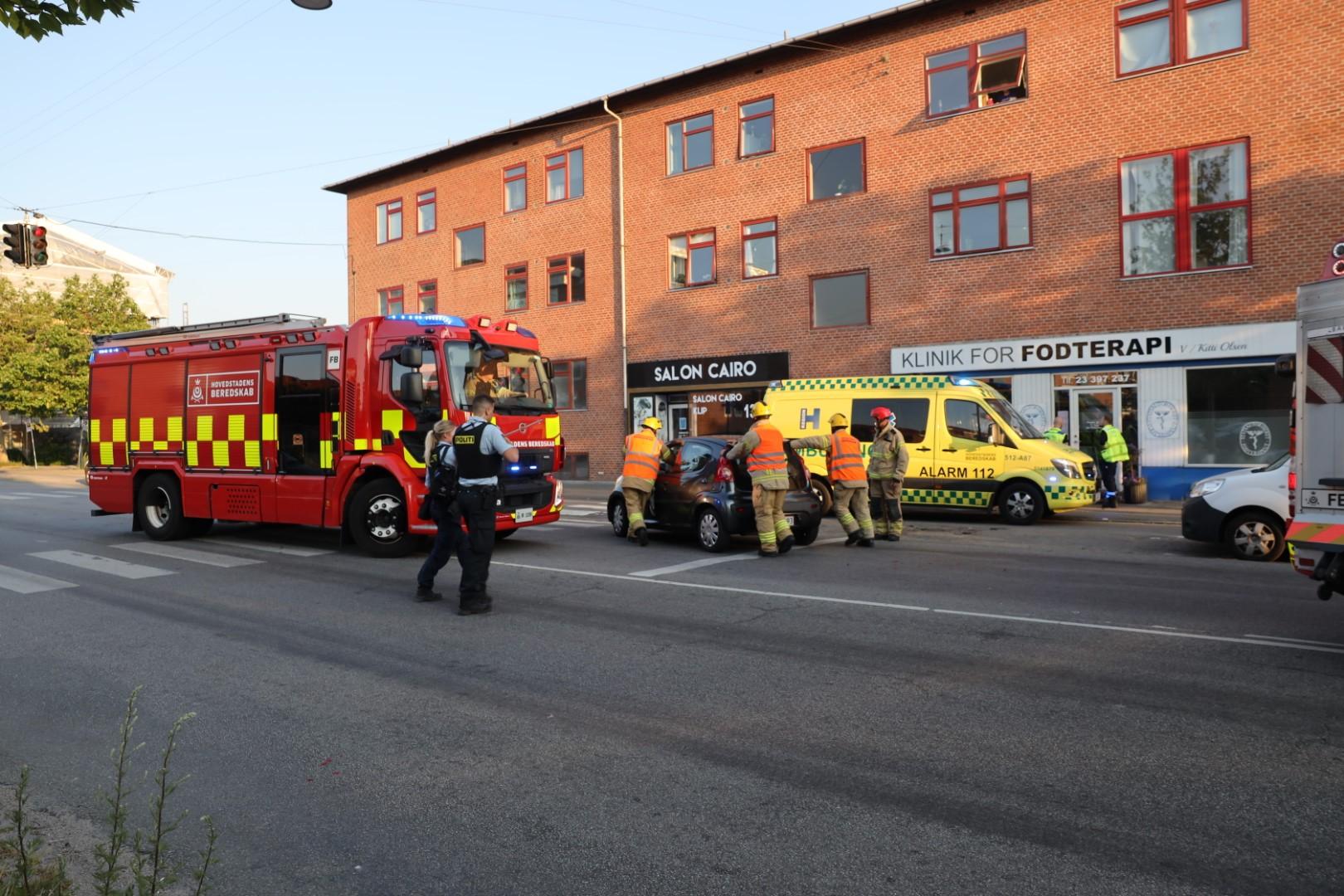 Trafikulykke i København