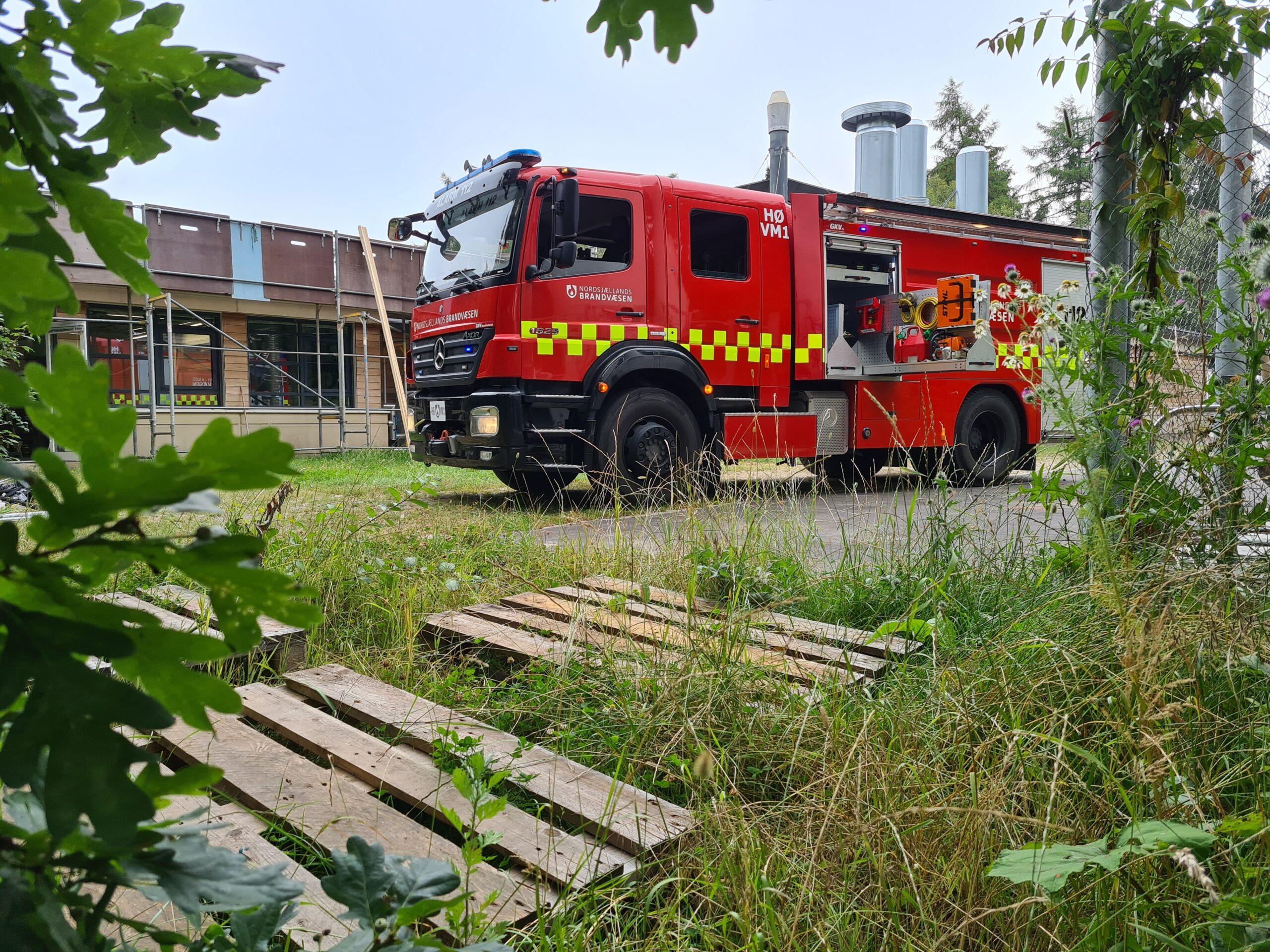 Tagbrand i forskerpark i Hørsholm