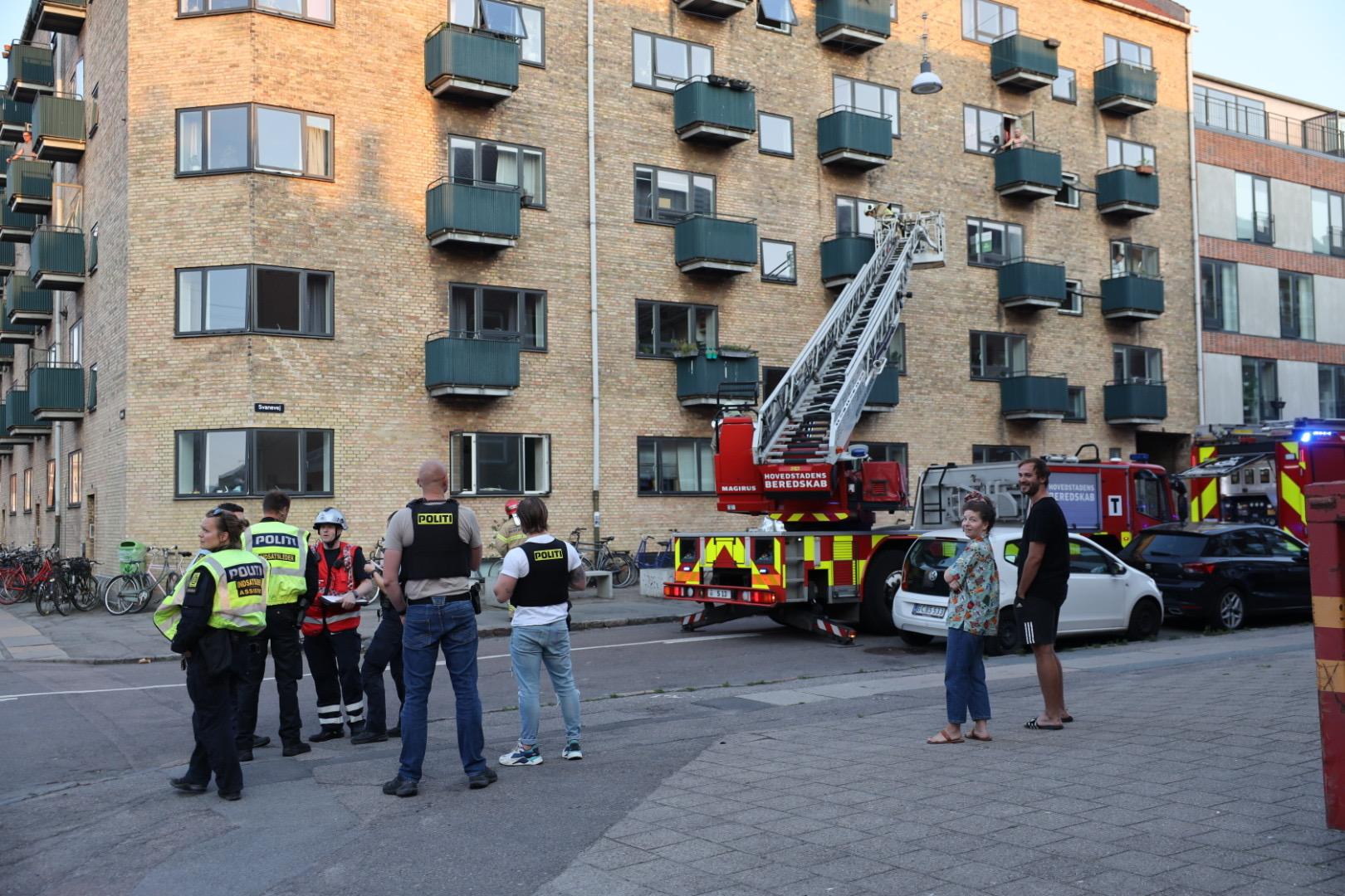 Brand på altan i København NV