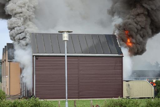 Voldsom brand i feriepark