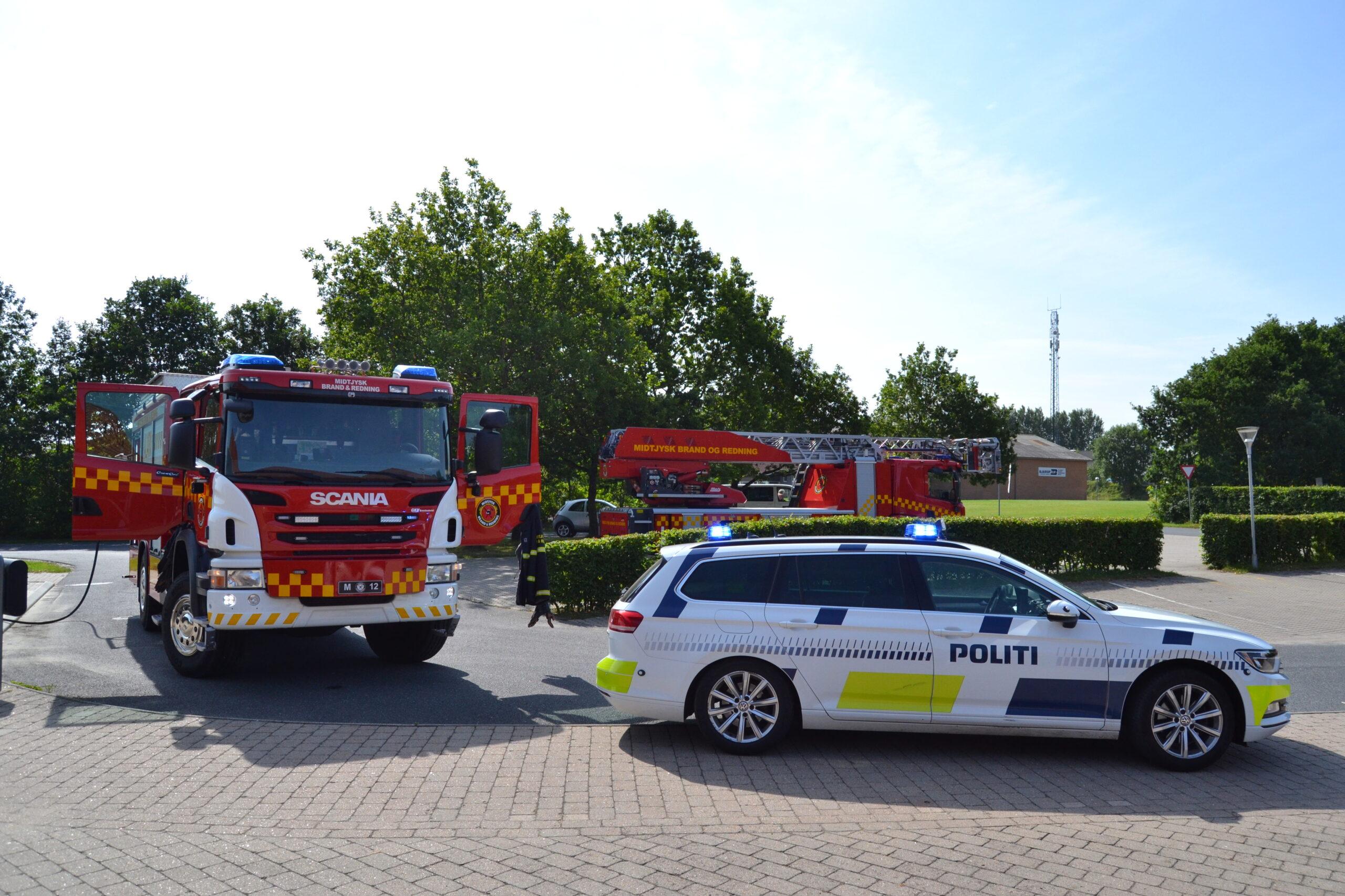 Brand på skole ved Silkeborg