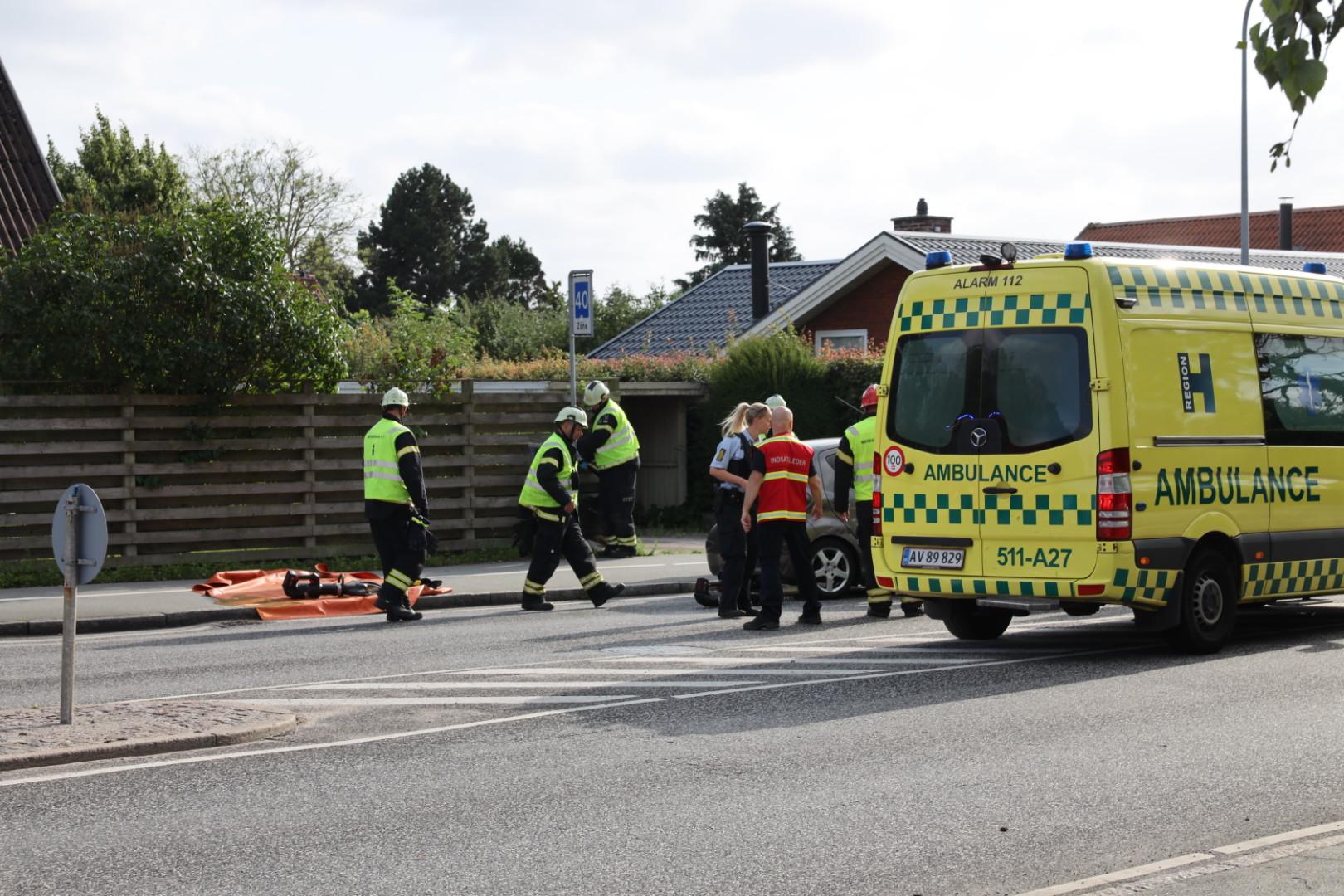 Trafikulykke mellem tre biler i Ballerup