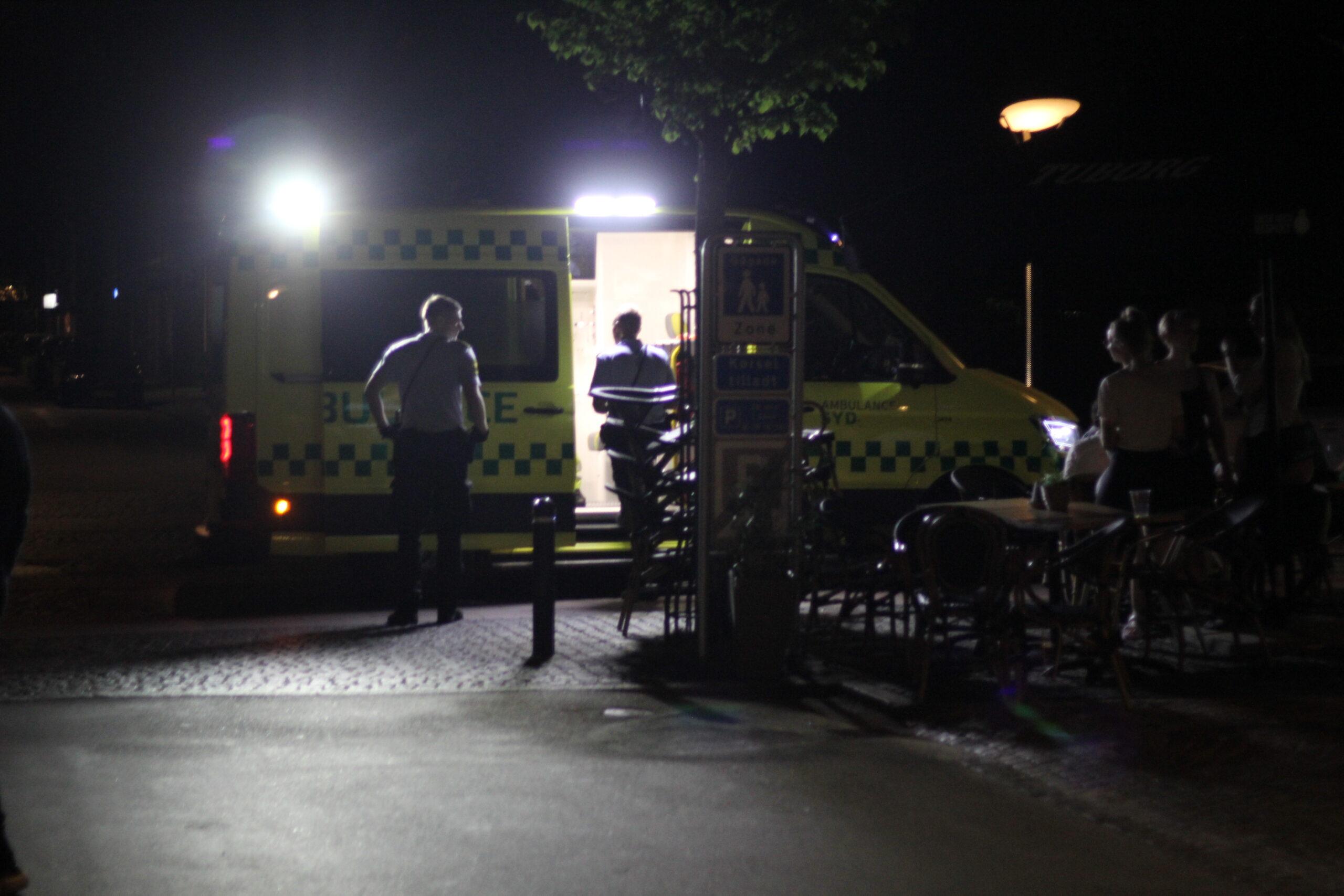Slagsmål i Esbjerg - Politi og ambulance fremme