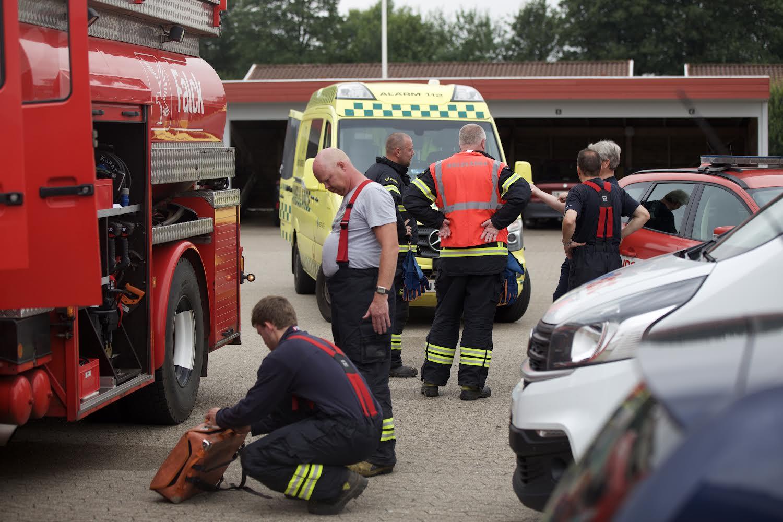Villabrand i Bredsten - person kørt til behandling på hospitalet