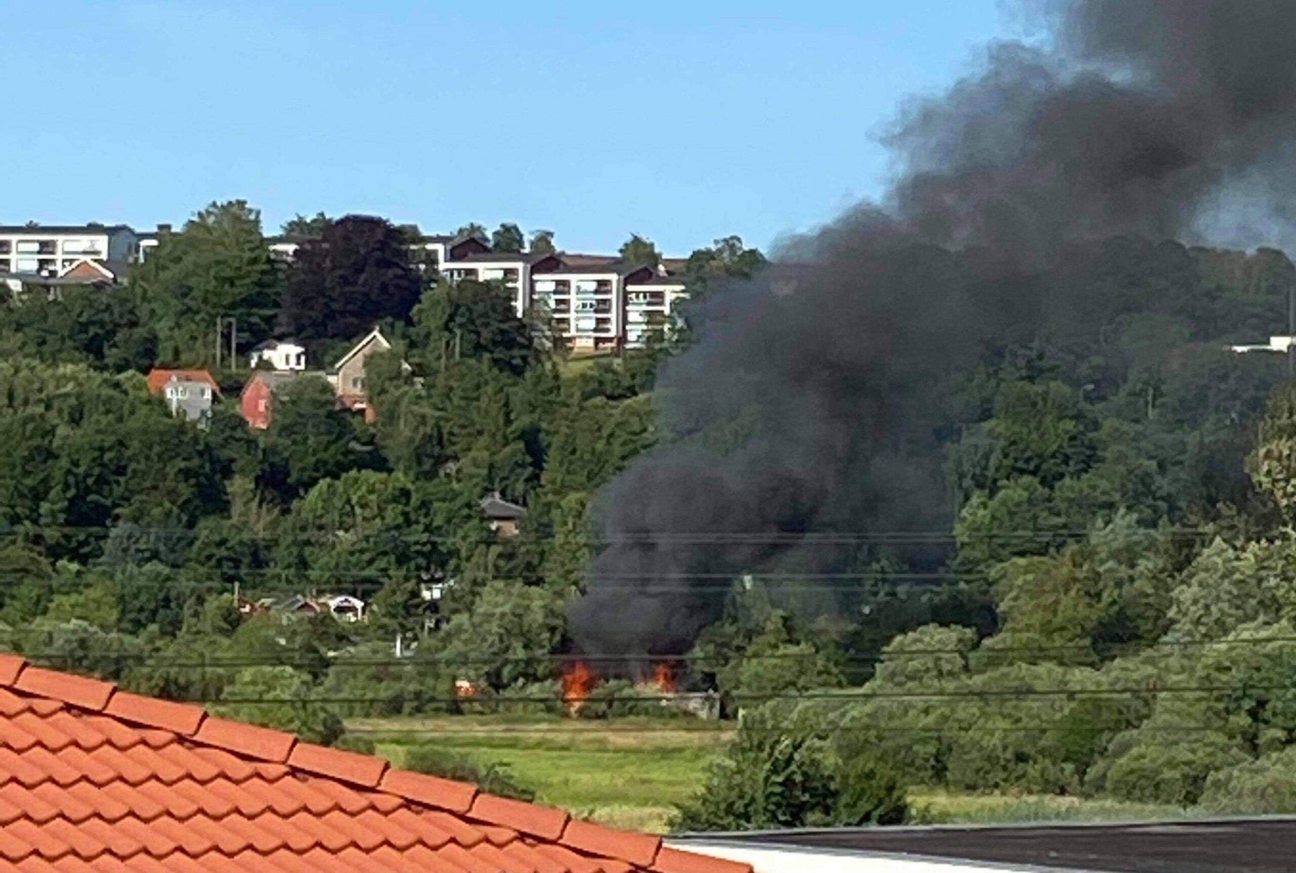 Voldsom brand i Kolonihave - Kolding