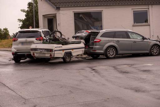 To biler er kørt sammen i Vinderup - politiet er på stedet