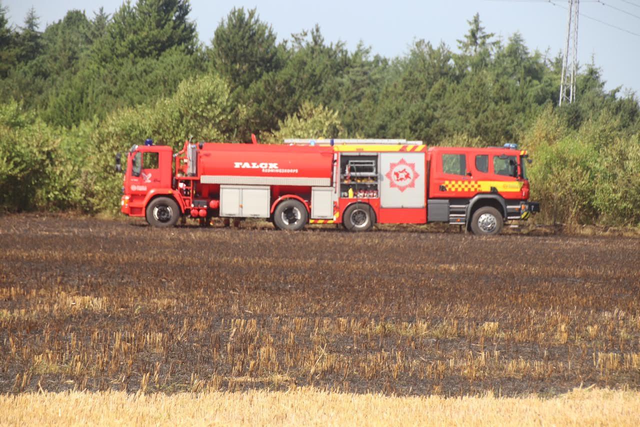 Naturbrand i Tarm - bredte sig hurtigt til skov område