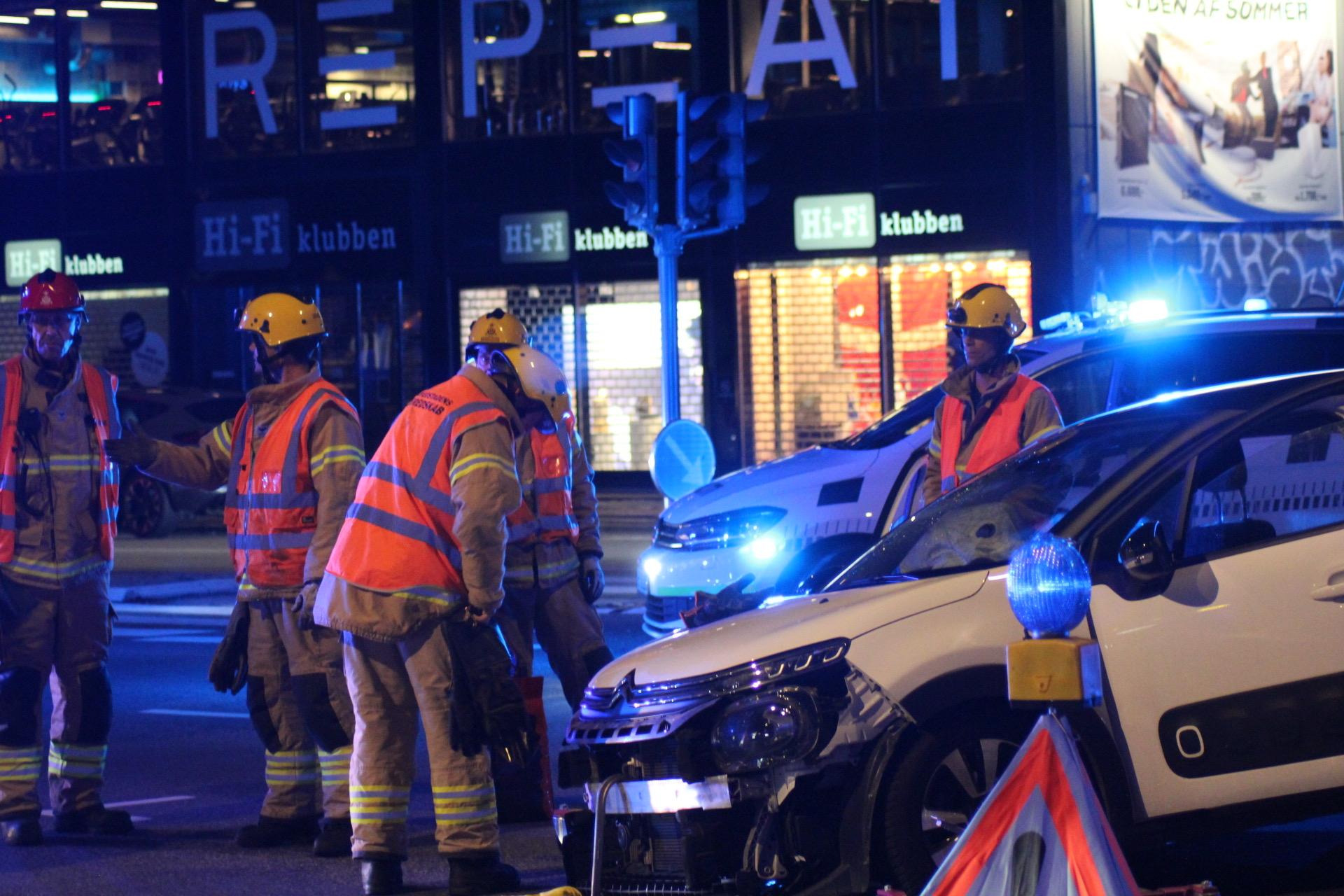 Færdselsuheld på H.C. Ørstedvej i København
