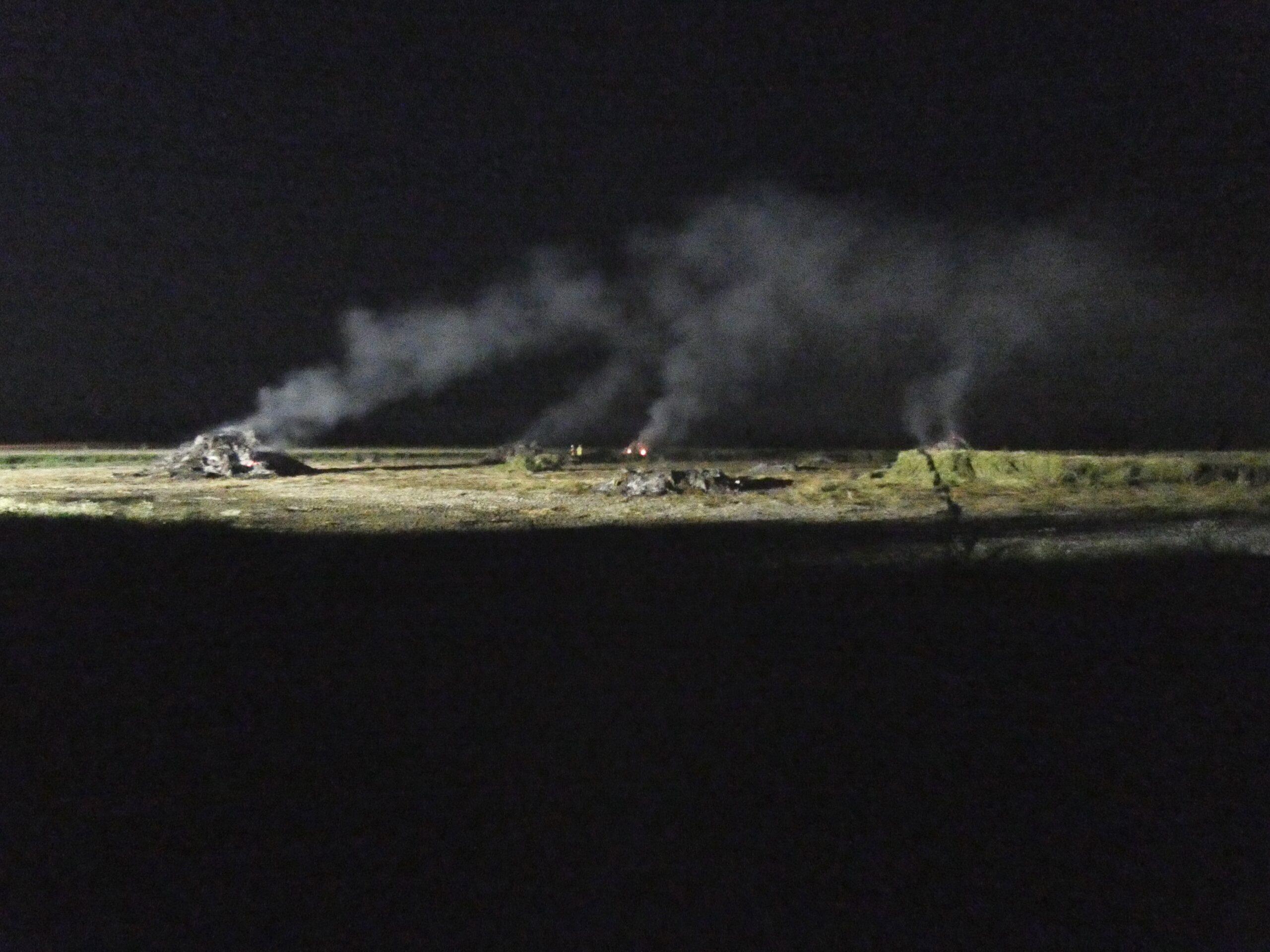 Halmballer brand - Branden er under kontrol